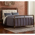 DG Casa Trenton Brown Metal Queen bed