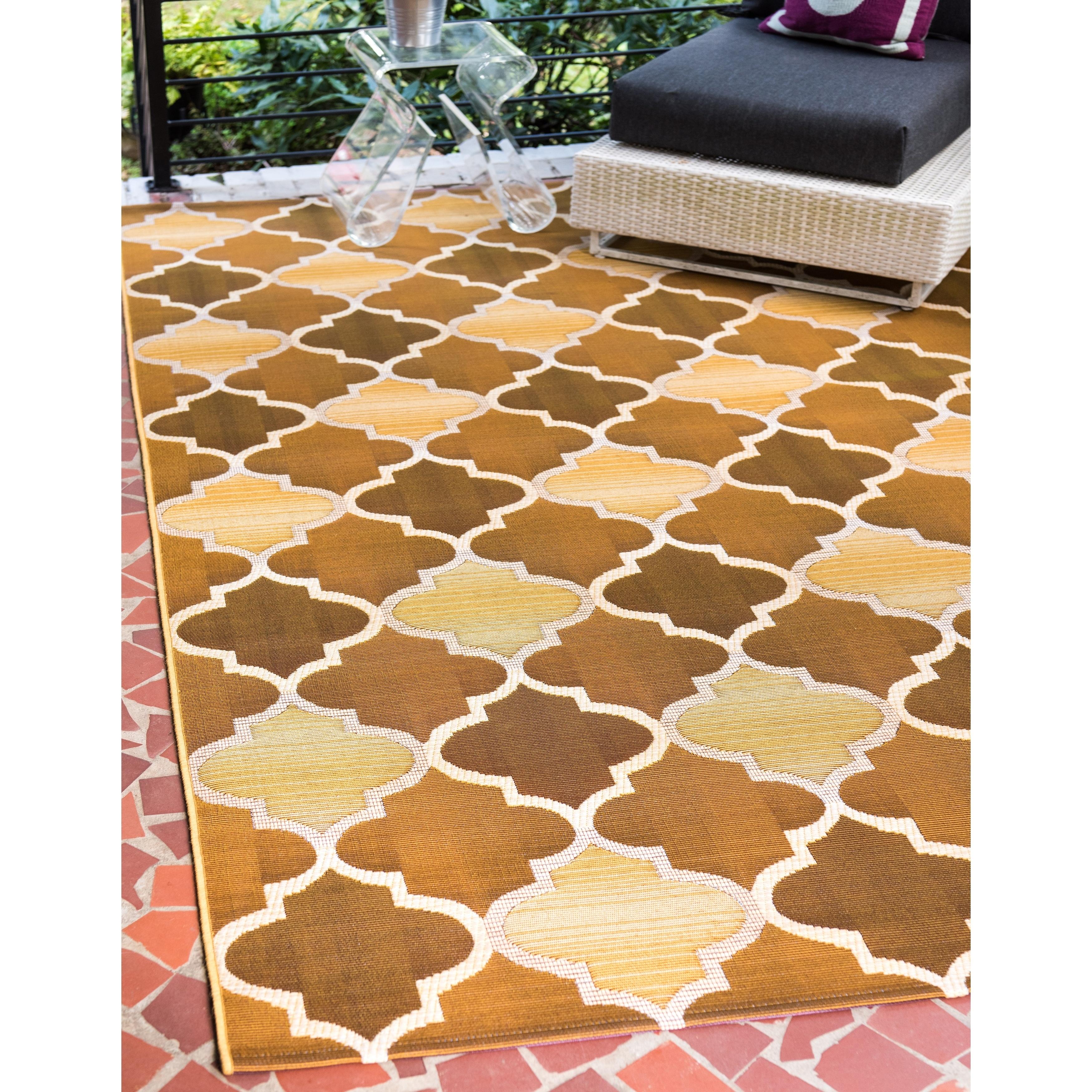 Shop Unique Loom Trellis Eden Outdoor Area Rug - 5\' 3 x 8\' - Free ...