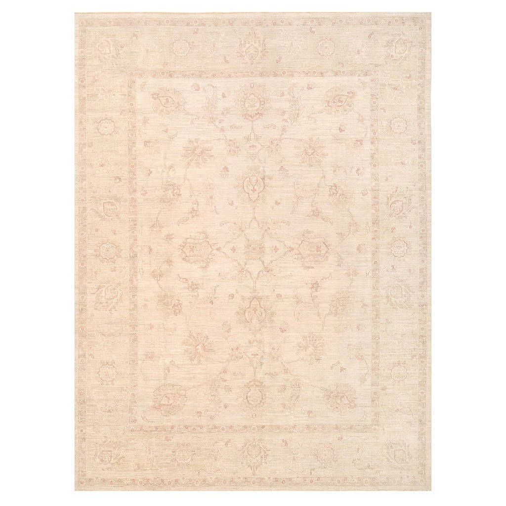 Handmade Herat Oriental Afghan Vegetable Dye White Wash Oushak Wool Rug Afghanistan 9 X 12 On Free Shipping Today