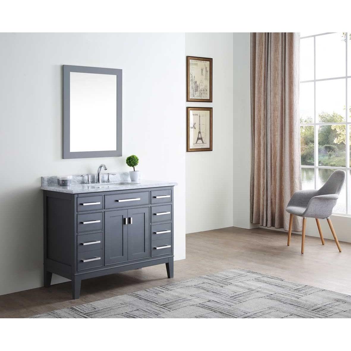 Danny Maple Grey 42-inch Single Bathroom Vanity Set - Free Shipping ...