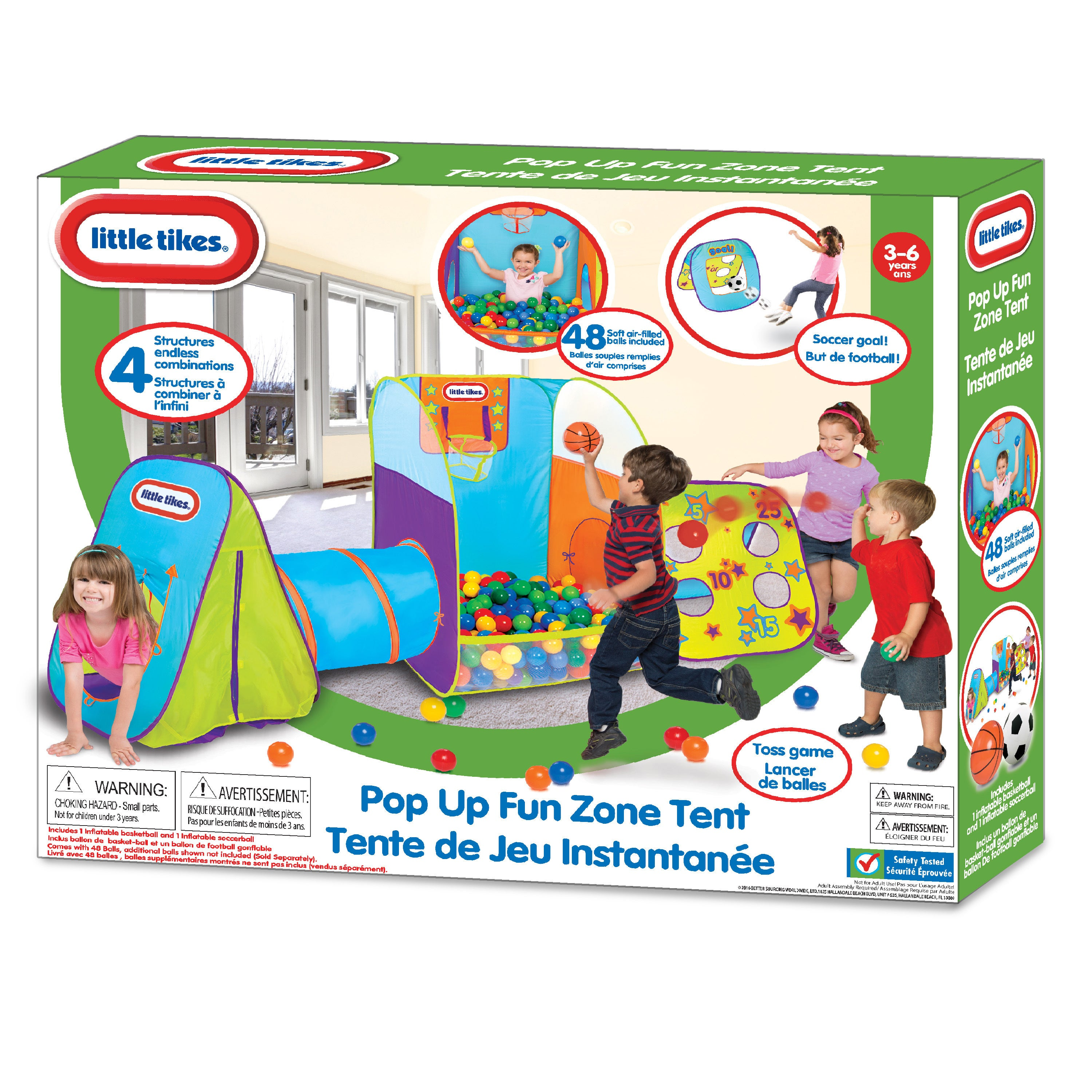 Little Tikes Pop-up Fun Zone Tent - Free Shipping Today - Overstock.com - 20889603  sc 1 st  Overstock.com & Little Tikes Pop-up Fun Zone Tent - Free Shipping Today ...
