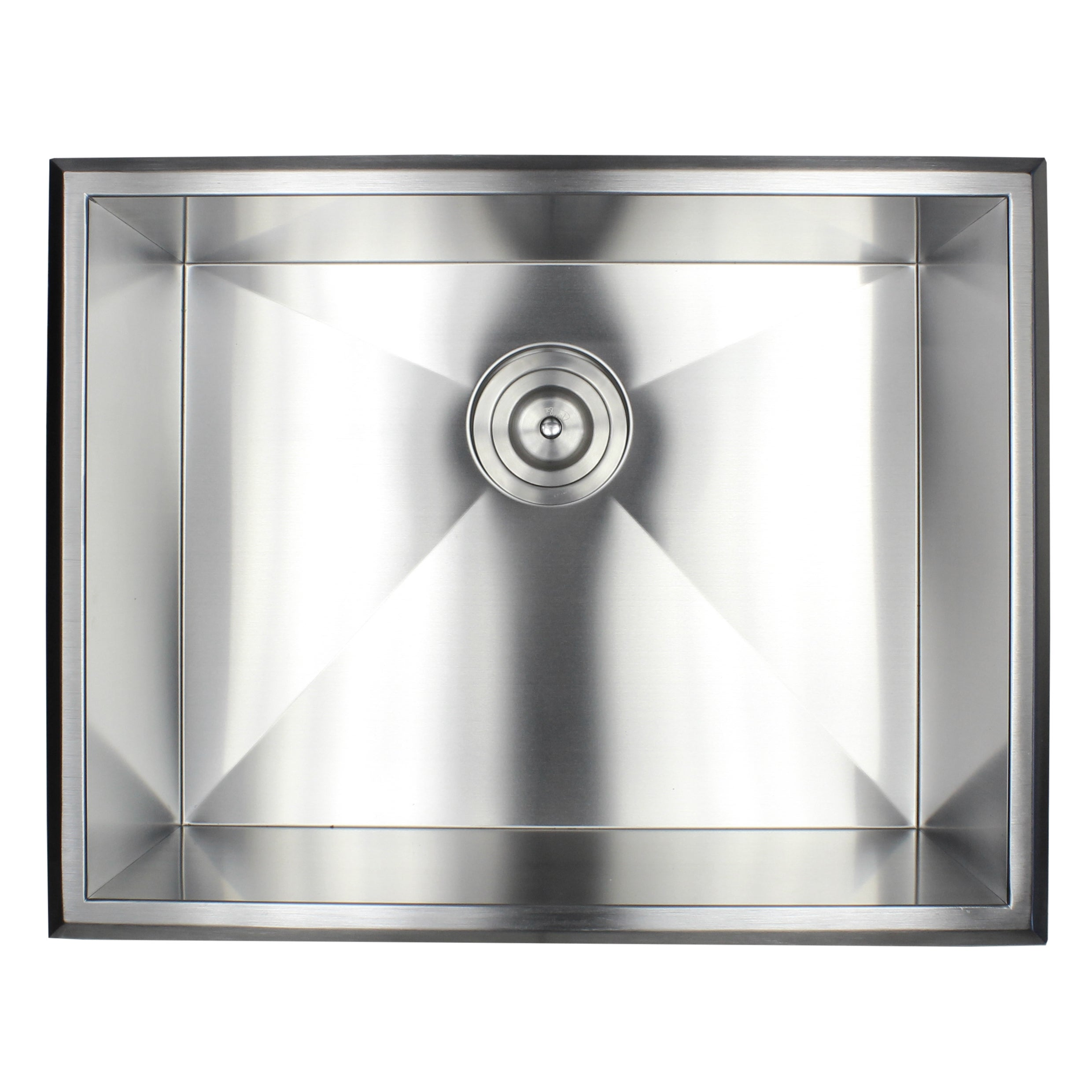 ariel 16 gauge stainless steel 23 inch single bowl kitchen sink combo   free shipping today   overstock com   20890558 ariel 16 gauge stainless steel 23 inch single bowl kitchen sink      rh   overstock com