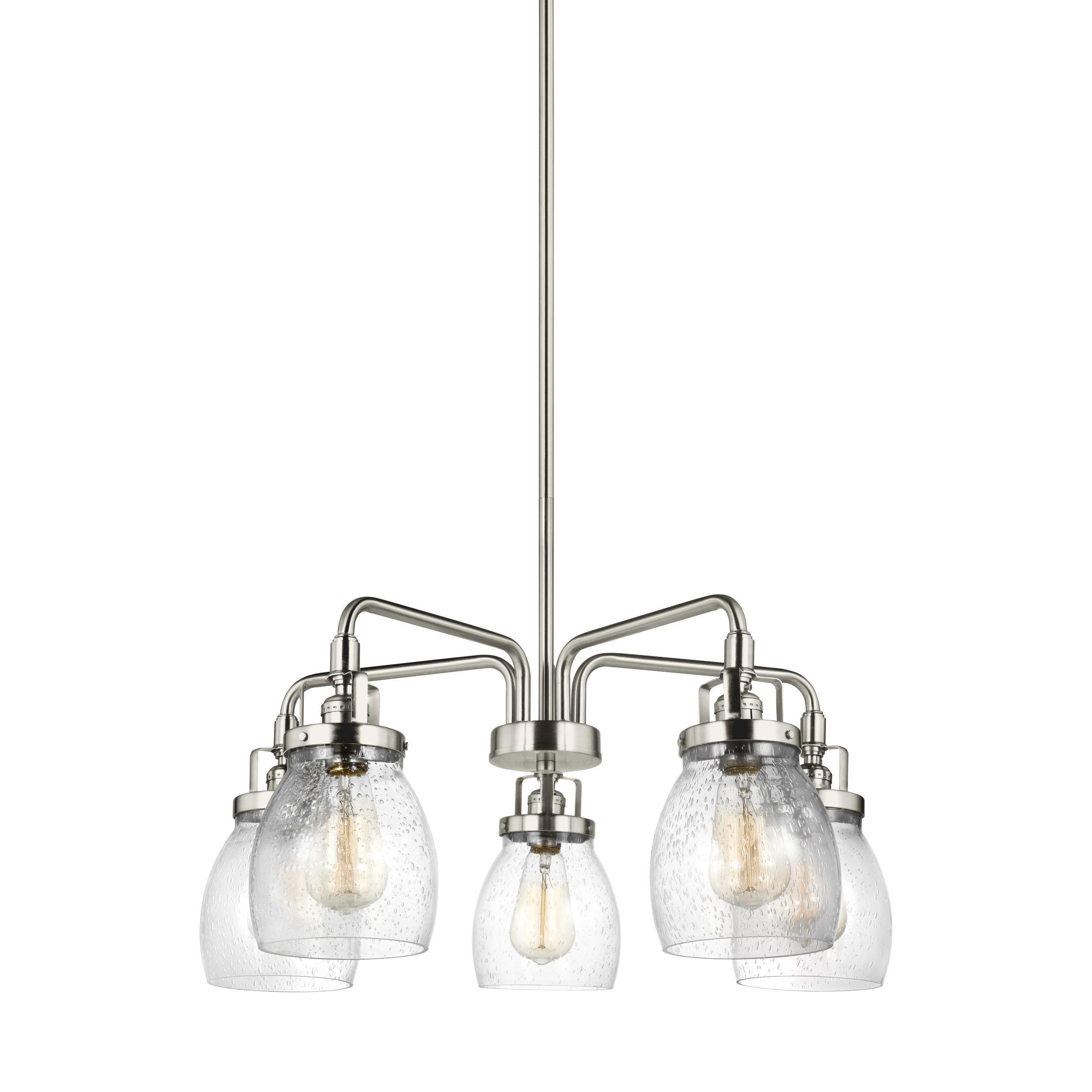 Sea gull belton 5 light brushed nickel chandelier free shipping sea gull belton 5 light brushed nickel chandelier free shipping today overstock 20890609 arubaitofo Choice Image