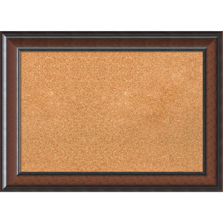 Shop Framed Cork Board, Cyprus Walnut - Free Shipping Today ...