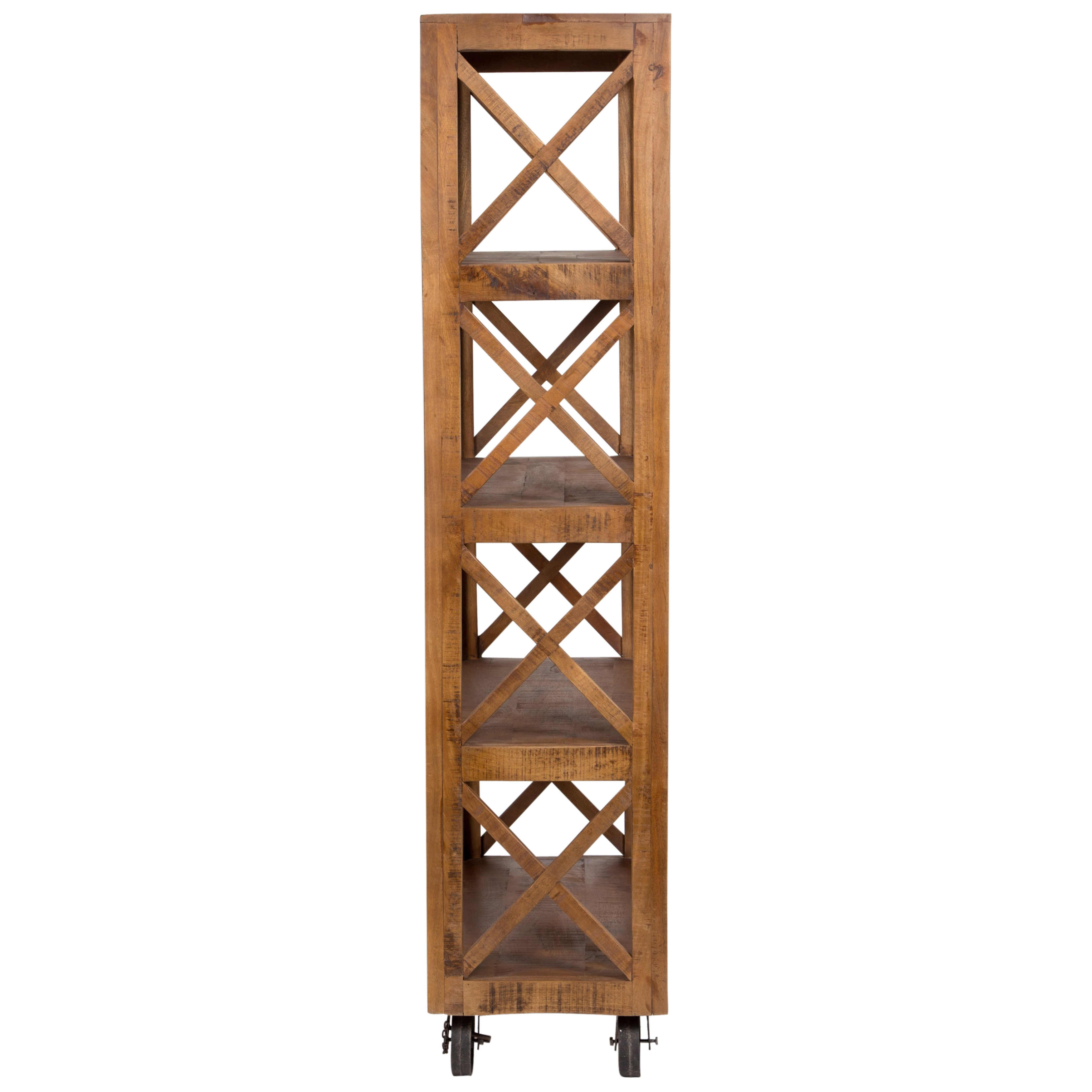 shelf bookcase walnut living unit four mountable wall bookcases room