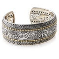 EFFY Final Call 925 18k Yellow Gold/Silver Bangle