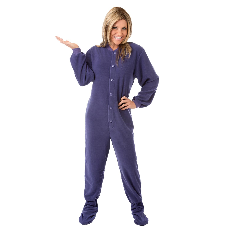 63b043ca68a1 Shop Big Feet Pajamas Unisex Purple Fleece Adult Footed One-piece Pajamas -  On Sale - Free Shipping Today - Overstock.com - 14311163