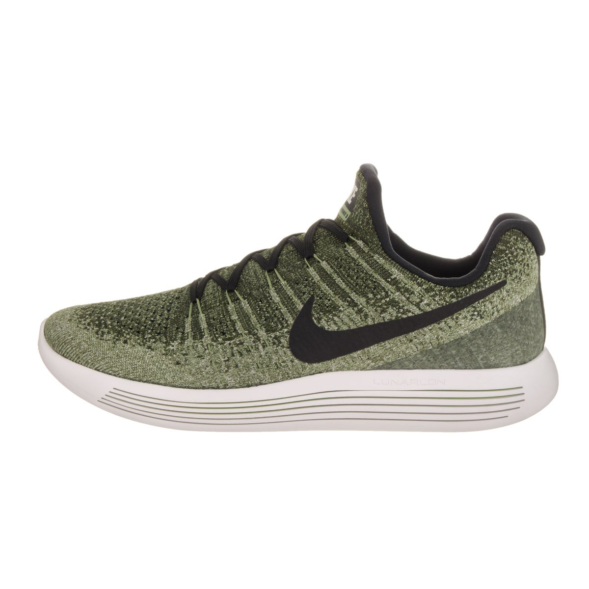 c629d5b106d2 Shop Nike Men s Lunarepic Low Flyknit 2 Green Running Shoe - Free Shipping  Today - Overstock - 14311298