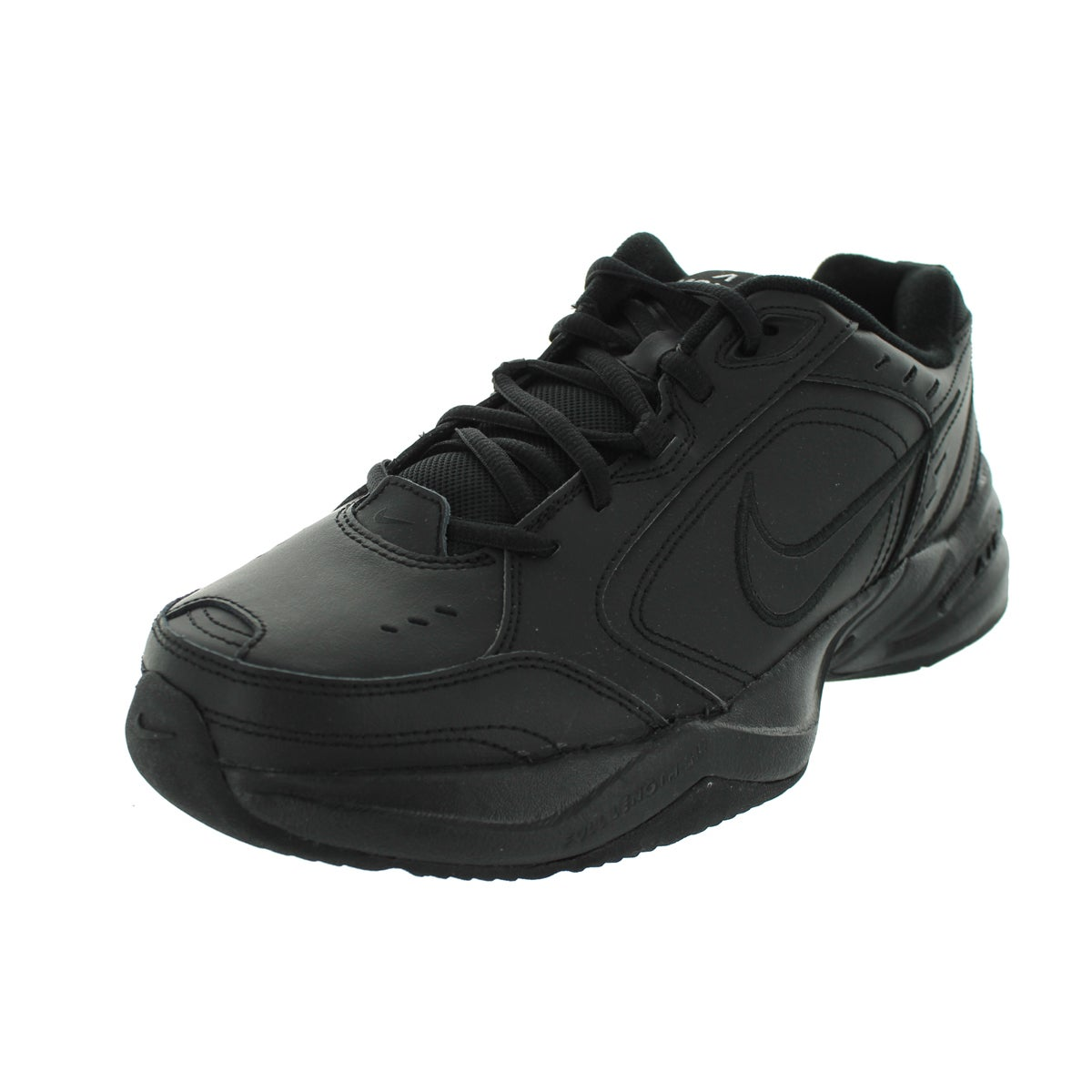 4bd7dead9c4238 Shop Nike Air Monarch IV Black Synthetic-leather Training Shoes ...