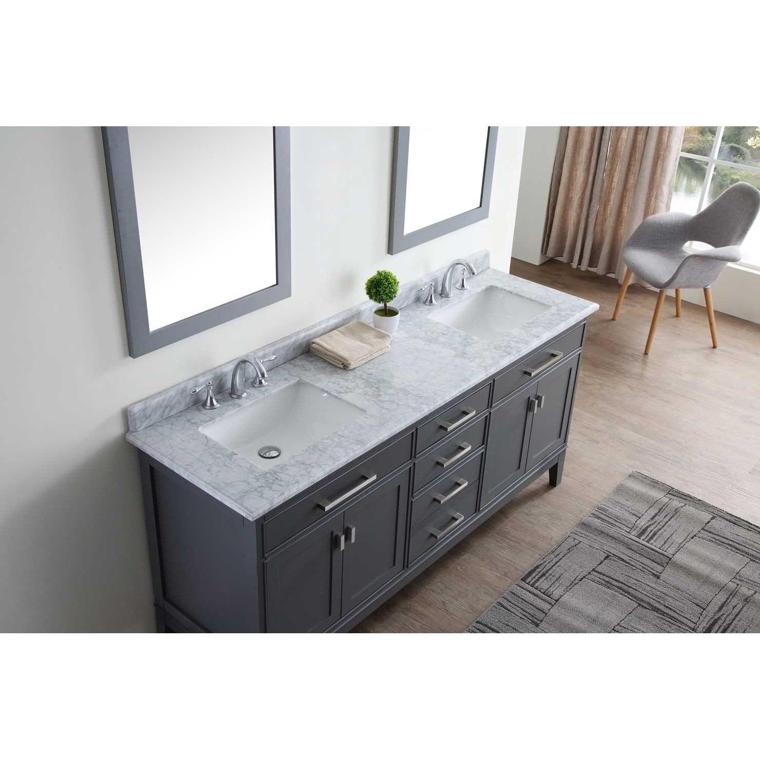 Shop Ari Kitchen and Bath Danny 72-inch Double Bathroom Vanity Set ...