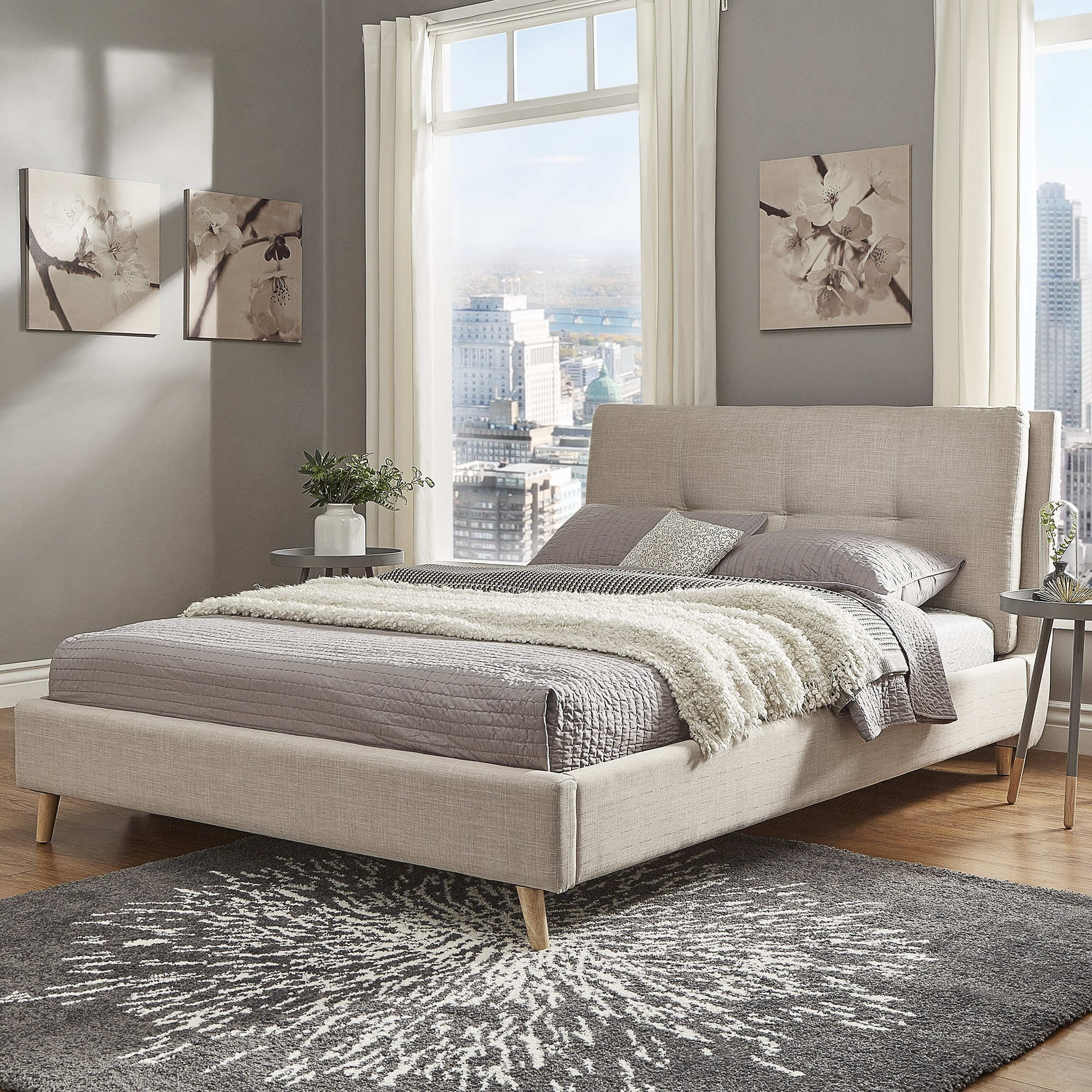 curved bed upholstered furniture with for platform xiorex headboard