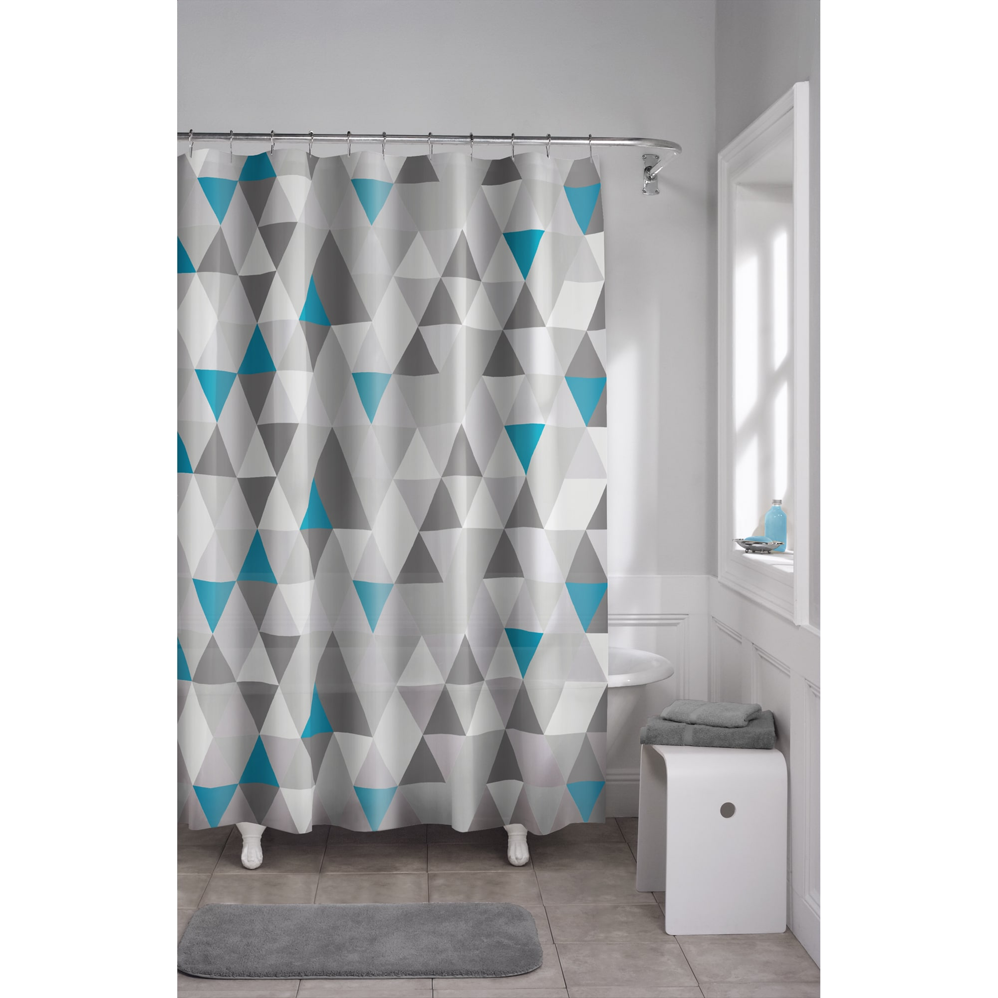 Maytex Vertex PEVA Shower Curtain