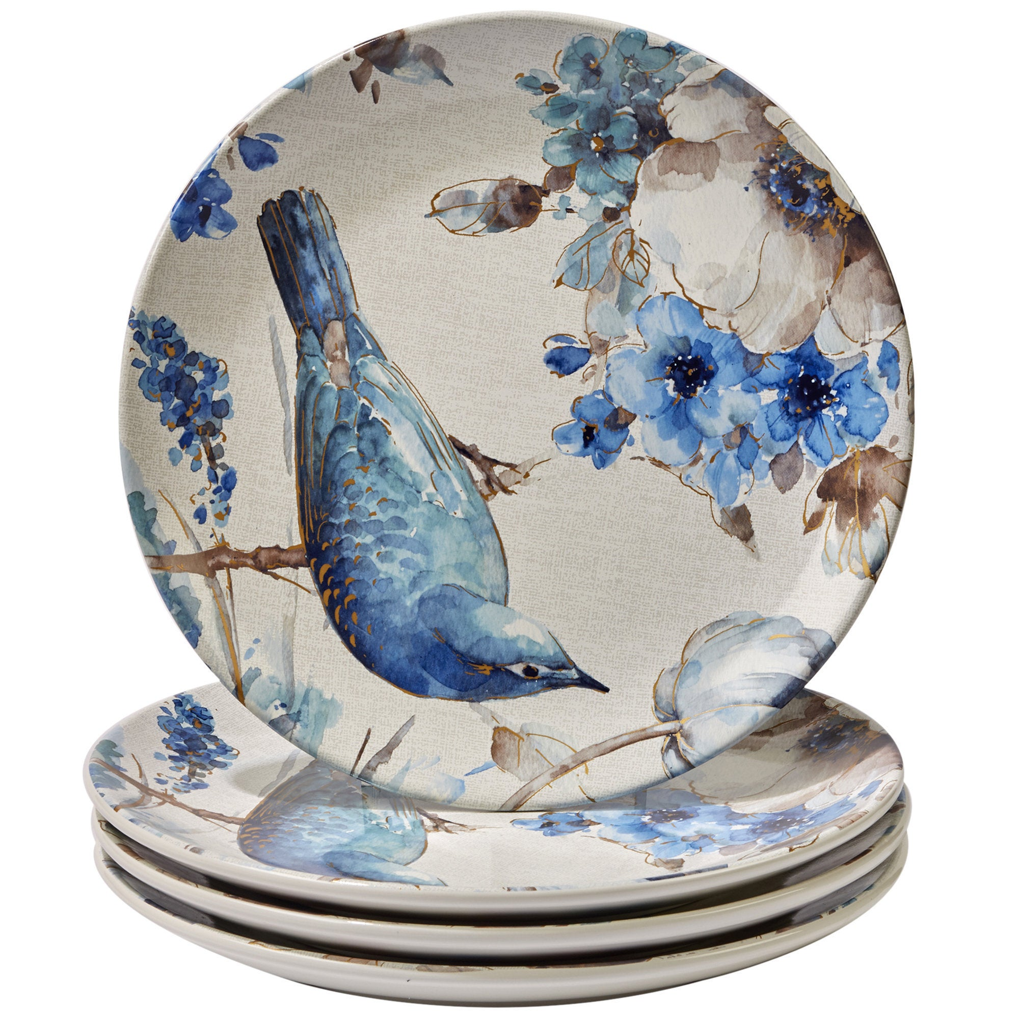 Certified International Indigold Ceramic 11-inch Bird Dinner Plates (Pack of 4) - Free Shipping Today - Overstock - 20907317  sc 1 st  Overstock.com & Certified International Indigold Ceramic 11-inch Bird Dinner Plates ...