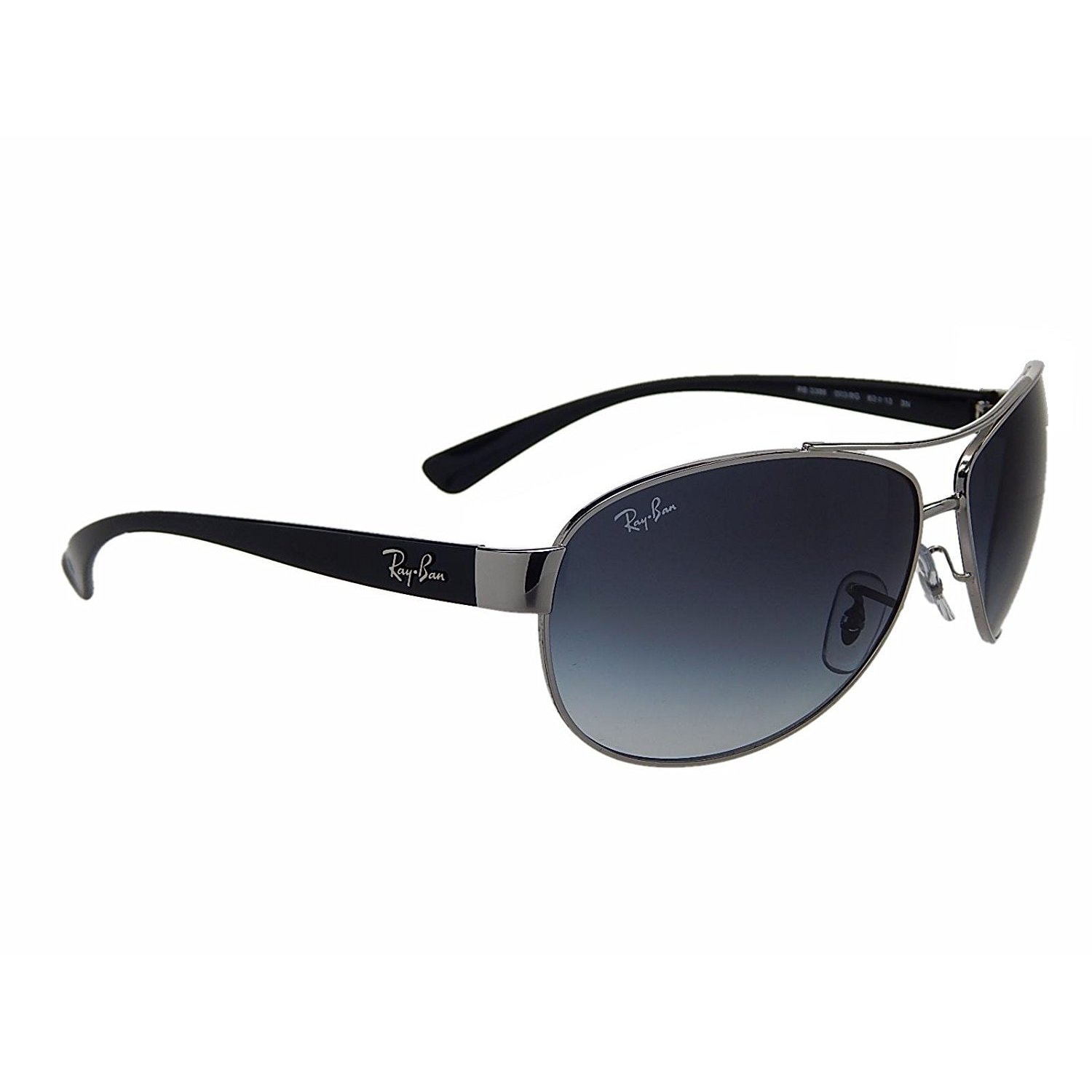 4c3a2d2b3ac Shop Ray-Ban RB3386 003 8G Silver Black Frame Grey Gradient 67mm Lens  Sunglasses - Free Shipping Today - Overstock - 14327958
