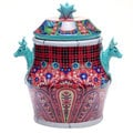 Tracy Porter for Poetic Wanderlust 'Folklore Holiday' Earthenware 11-inch Biscuit Jar
