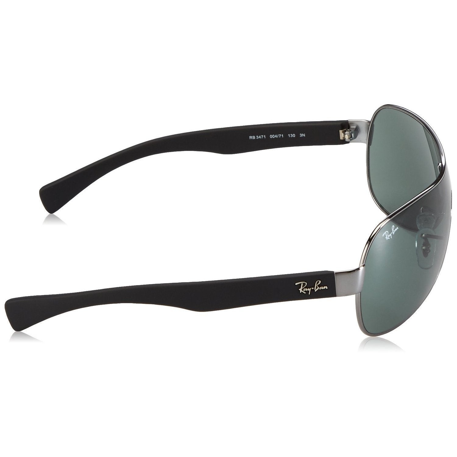 327a19b953c Shop Ray-Ban RB3471 004 71 Gunmetal Black Frame Green Classic 32mm Lens  Sunglasses - Free Shipping Today - Overstock - 14328115