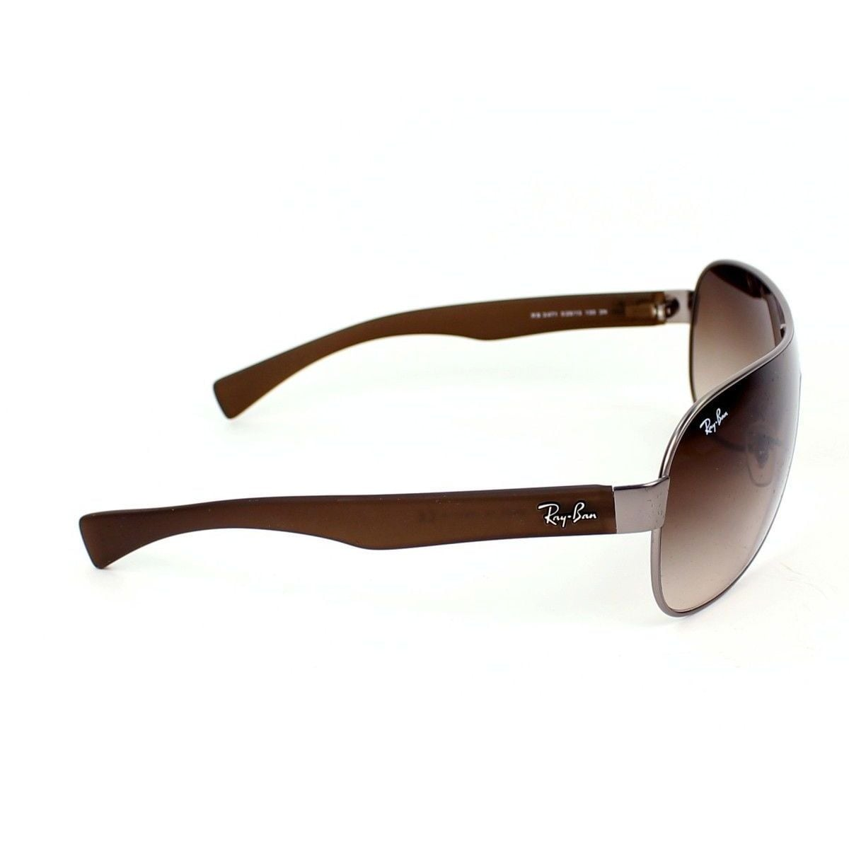 47a84f21ed5b Shop Ray-Ban RB3471 029 13 Silver Brown Frame Brown Gradient 32mm Single  Lens Sunglasses - Free Shipping Today - Overstock - 14328123
