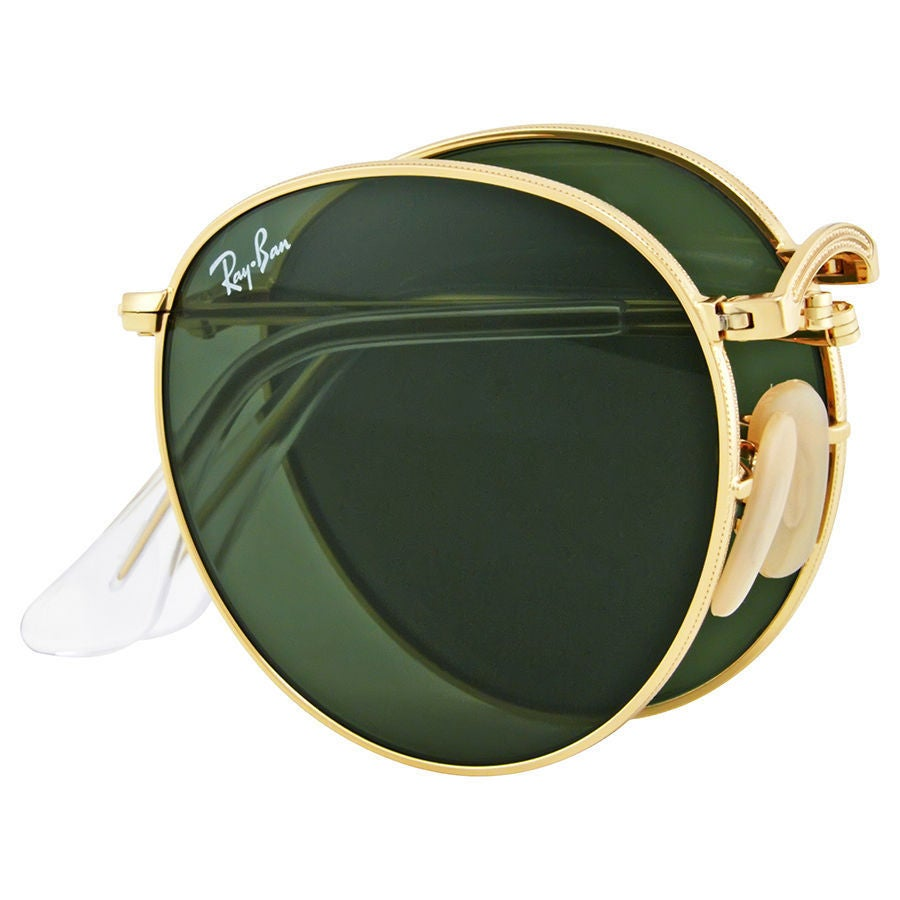 ee3b171c6b4 Shop Ray-Ban RB3532 001 Round Metal Folding Gold Frame Green Classic 50mm  Lens Sunglasses - Free Shipping Today - Overstock - 14328649