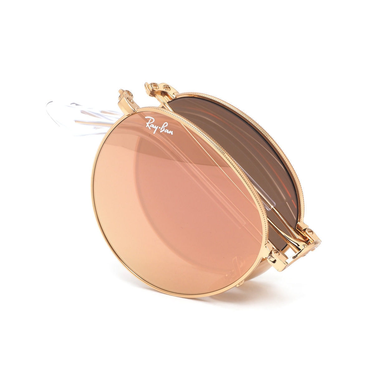 3fe6b39f5db Shop Ray-Ban RB3532 001 Z2 Round Metal Folding Gold Frame Copper Flash 50mm  Lens Sunglasses - Free Shipping Today - Overstock - 14328680