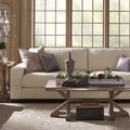 "Lionel II White Cotton Fabric Down-Filled Extra-Long 108"" Sofa by iNSPIRE Q Artisan"