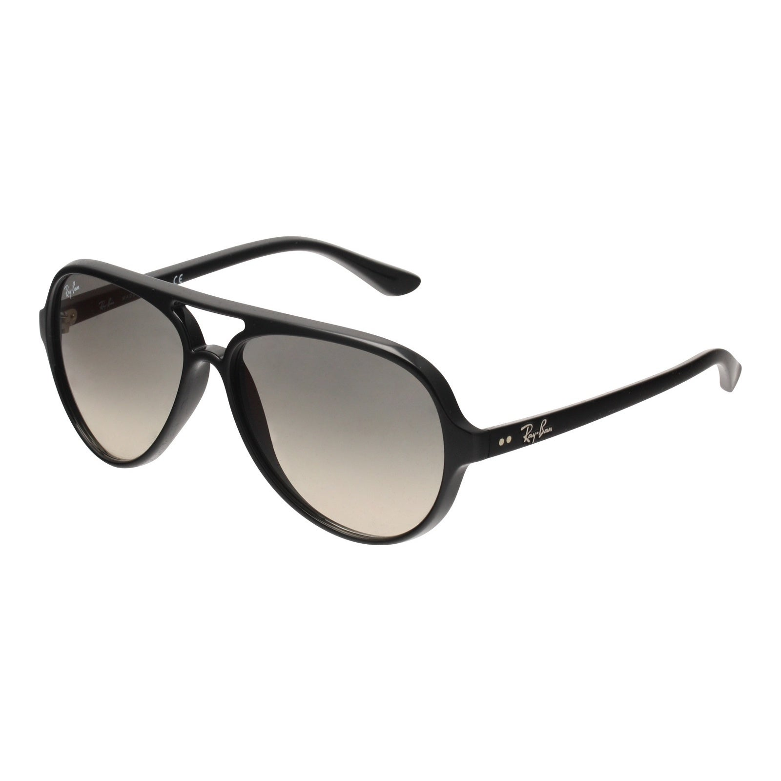 ee4adb60413 Ray-Ban RB4125 601 32 Cats 5000 Black Frame Light Grey Gradient 59mm Lens  Sunglasses