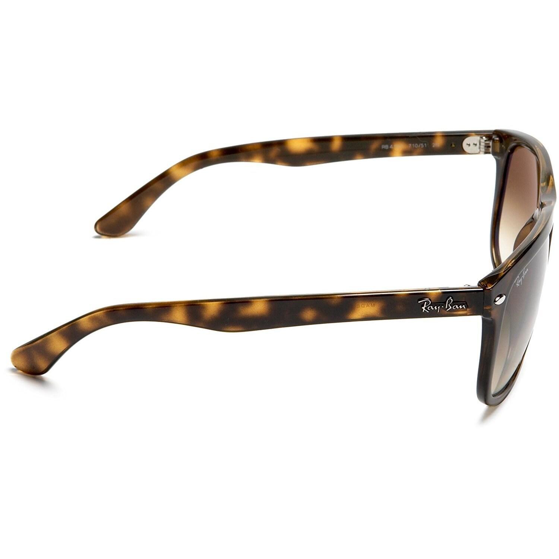a4e9780ff164e ... wayfarer sunglasses black frame gray lens 7e197 94505  greece shop ray  ban rb4147 710 51 tortoise frame light brown gradient 60mm lens sunglasses  free