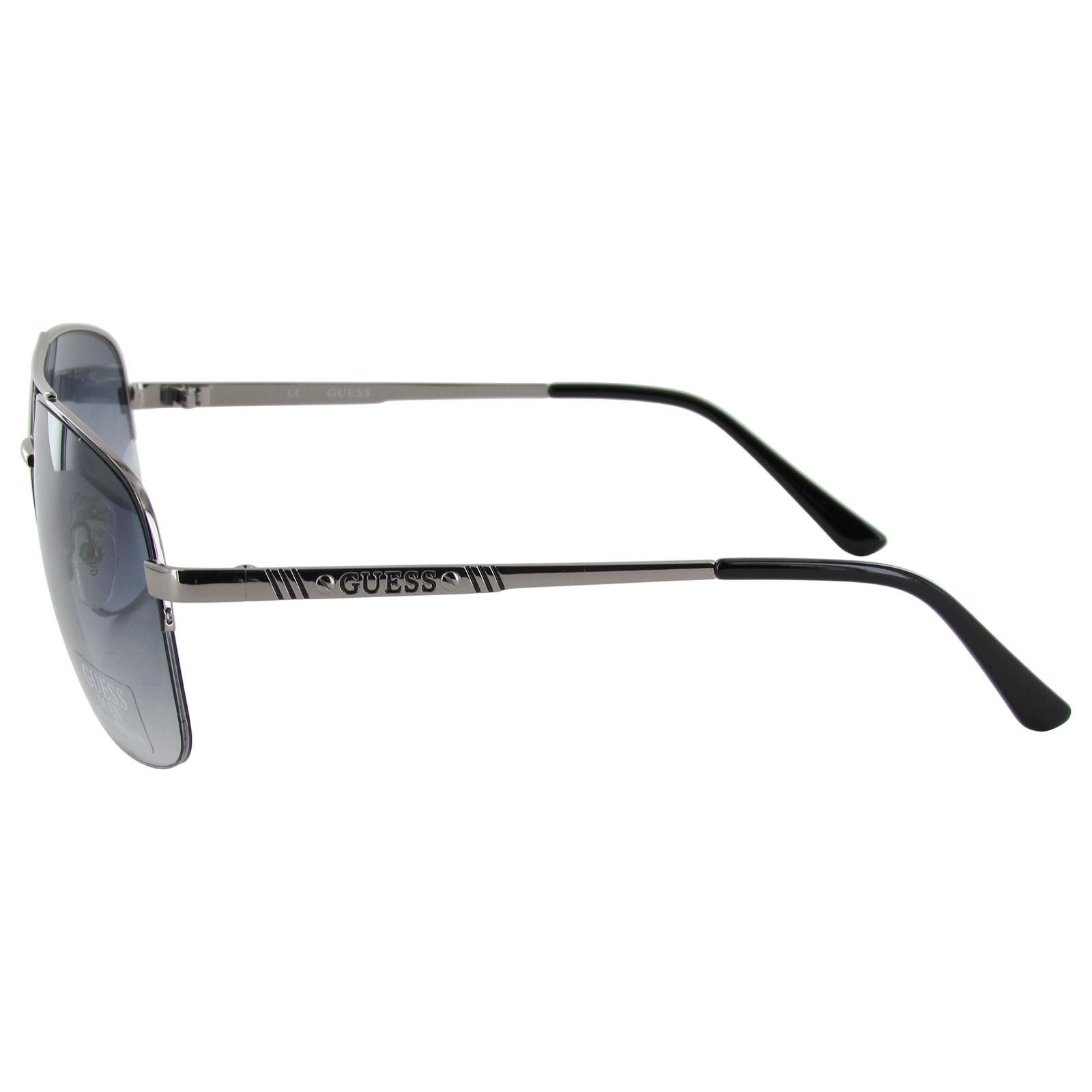 60b03be40e Shop Guess Aviator GU6745 Gunmetal Frame Smoke 60 mm Lens Sunglasses - Free  Shipping On Orders Over  45 - Overstock - 14331182