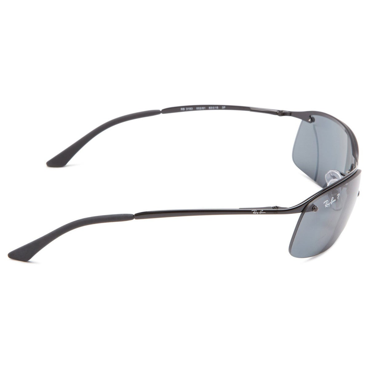8a96d6df60 Shop Ray-Ban RB3183 002 81 Men s Black Frame Polarized Grey Gradient 63mm  Lens Sunglasses - Free Shipping Today - Overstock - 14331186