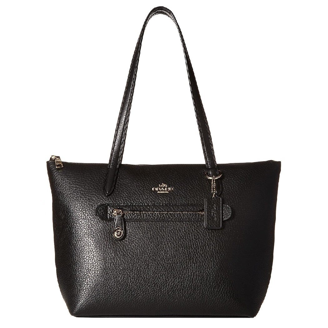 df1603857e Shop Coach Taylor Black Pebbled Leather Tote Bag - Free Shipping ...