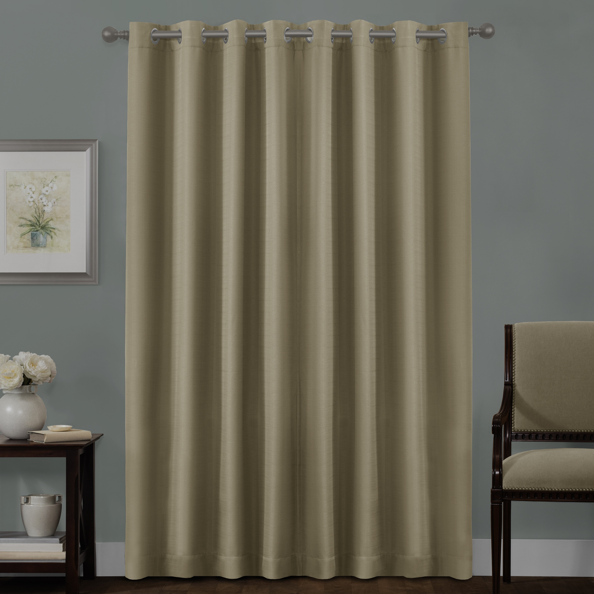 brown width versatile solid swan extra pleat cheery pin inch curtains wide