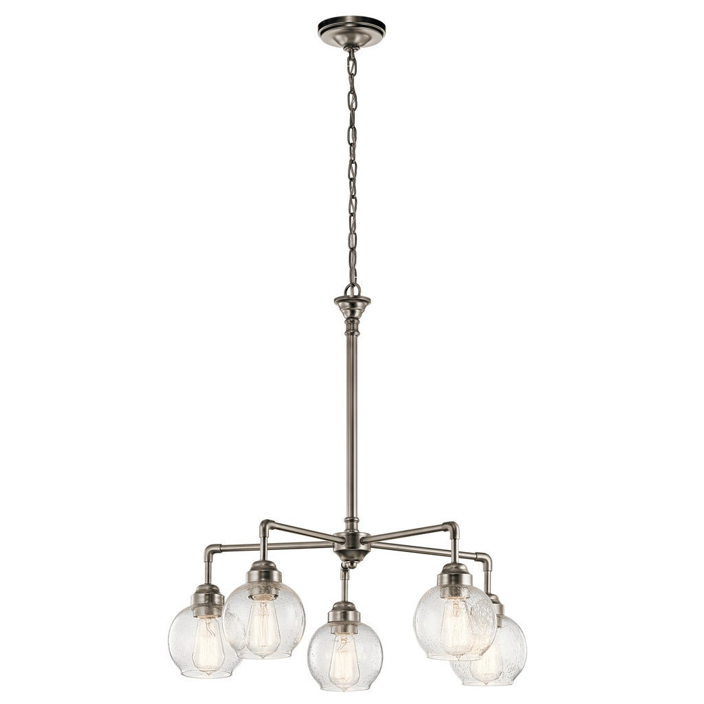 Kichler Lighting Niles Collection 5-light Antique Pewter Chandelier - Free  Shipping Today - Overstock.com - 20912203 - Kichler Lighting Niles Collection 5-light Antique Pewter