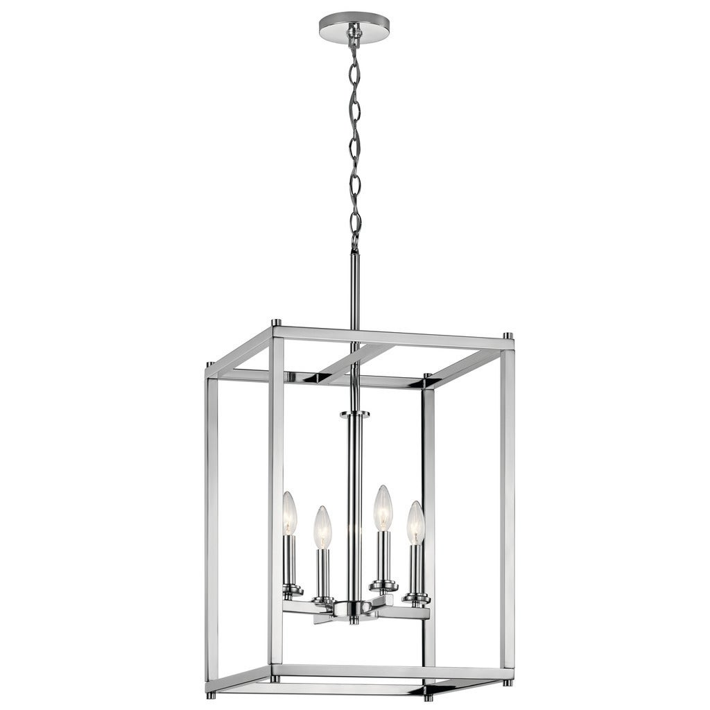 crosby collection large pendant light. Kichler Lighting Crosby Collection 4-light Chrome Foyer Pendant - Free Shipping Today Overstock 20912210 Large Light