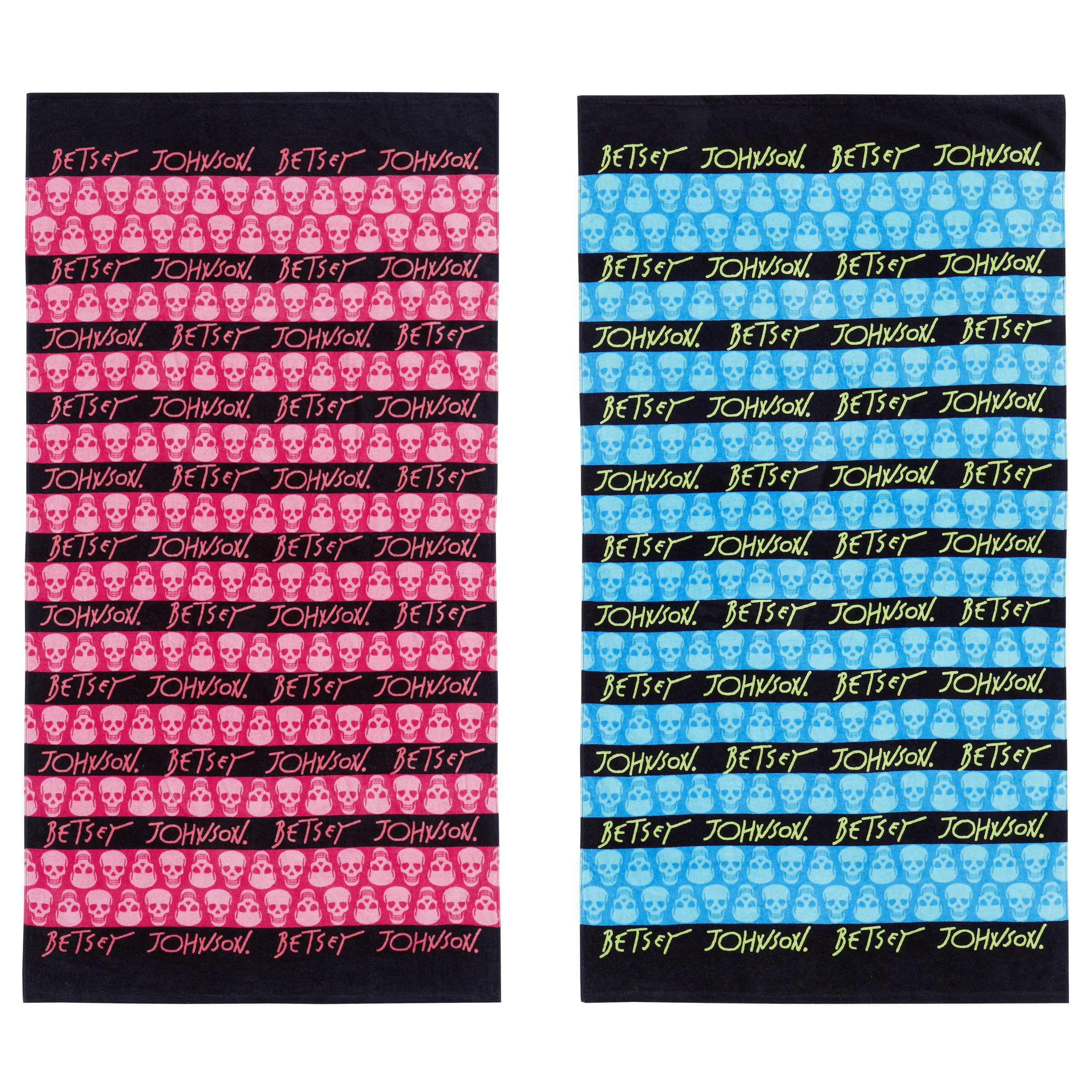 Shop Betsey Johnson Skull Stripe Beach Towel Set - Free Shipping On ...