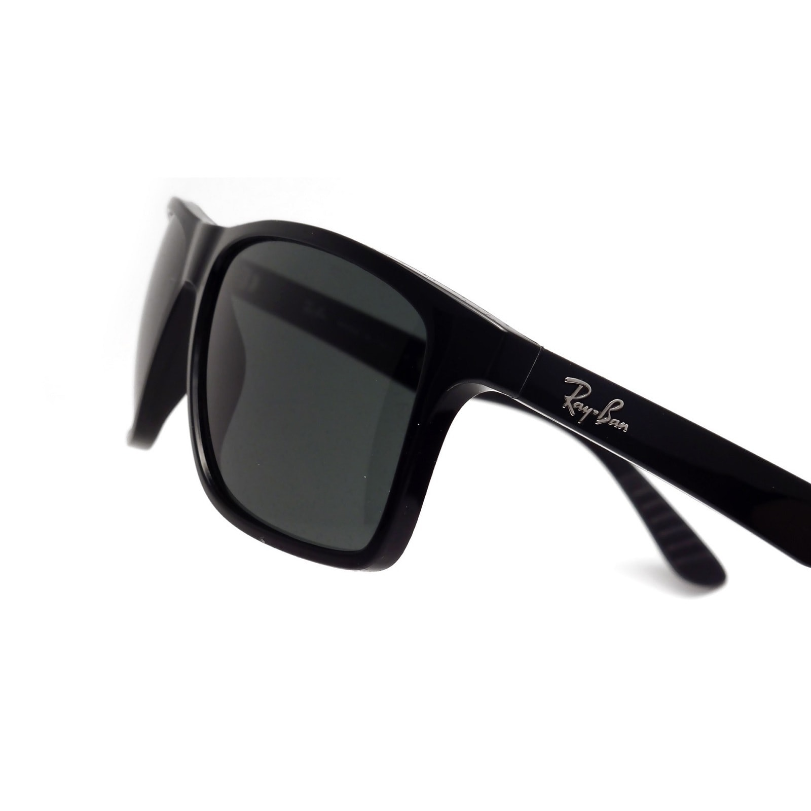 4818a99846 Shop Ray-Ban RB4234 601 71 Black Frame Green Classic 58mm Lens Sunglasses -  Free Shipping Today - Overstock - 14335564