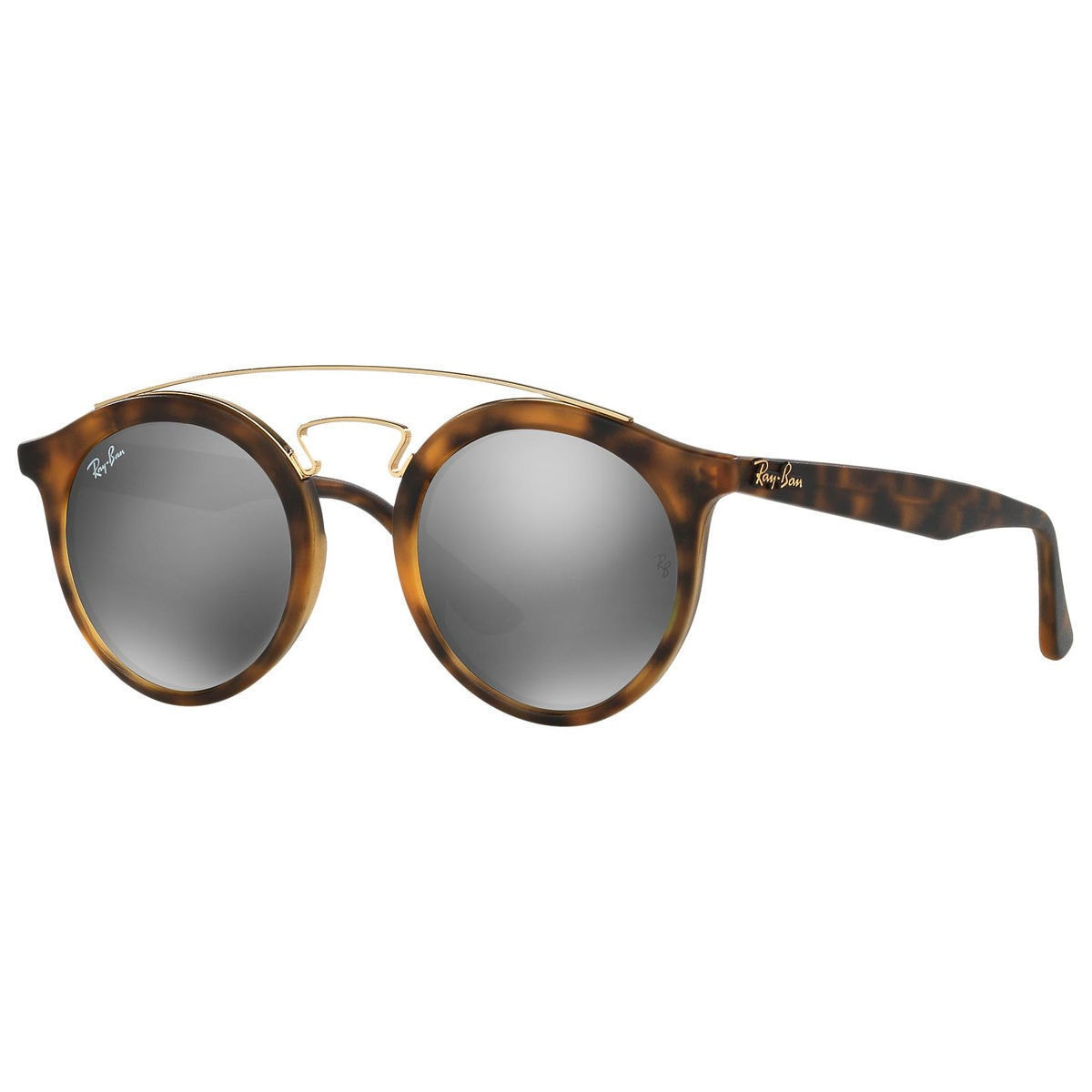 6449f39500 Shop Ray-Ban Unisex RB4256 60926G Gatsby I Tortoise Frame Grey Mirror 46mm  Lens Sunglasses - Ships To Canada - Overstock - 14335642