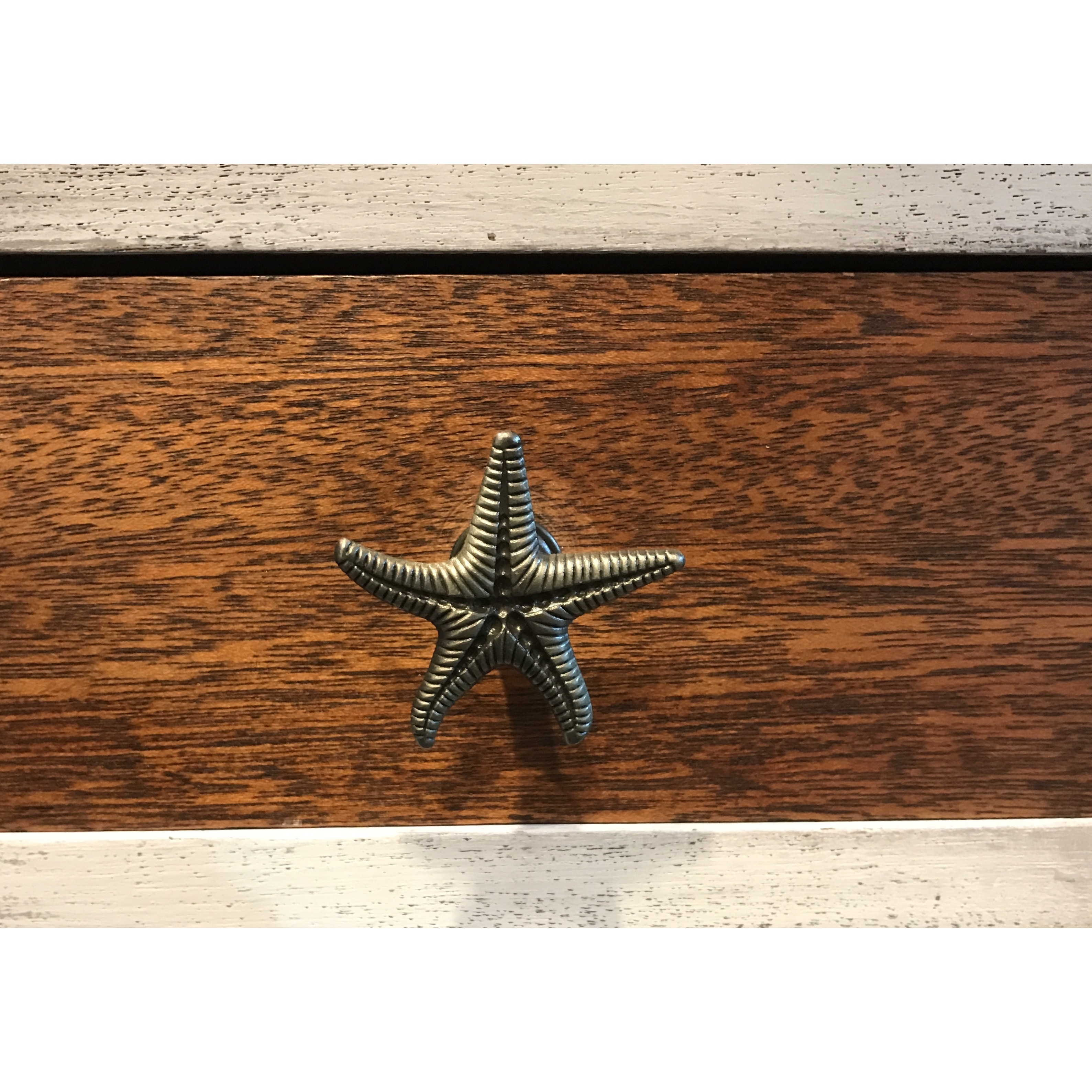 drawer chrome finished fine brushed pin in drawers nickel hardwarecast starfish or pulls custom cabinet pewter powder