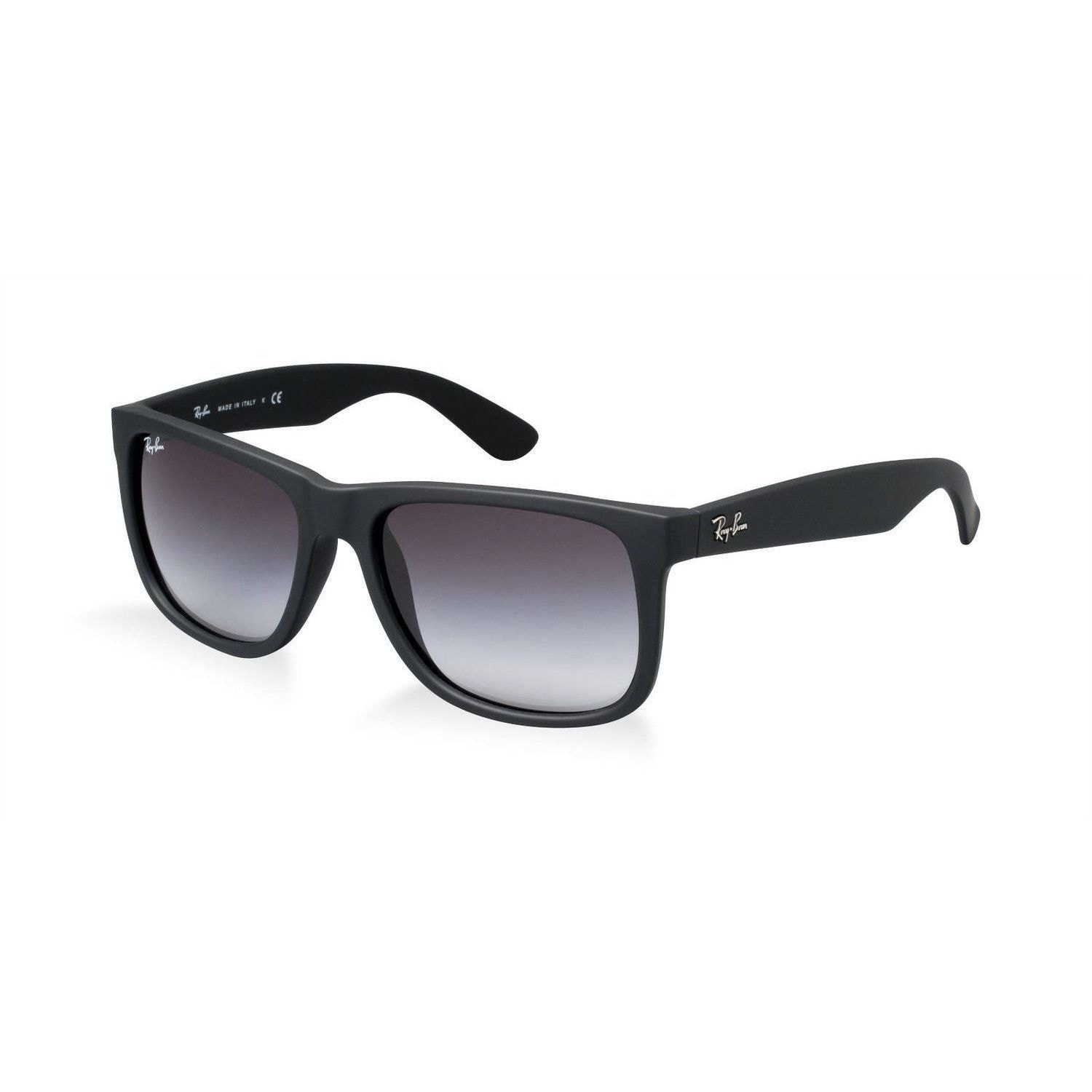 d98294c4fb Shop Ray-Ban Justin RB4165 601 8G Black Frame Grey Gradient 51mm Lens  Sunglasses - Free Shipping Today - Overstock.com - 14338815