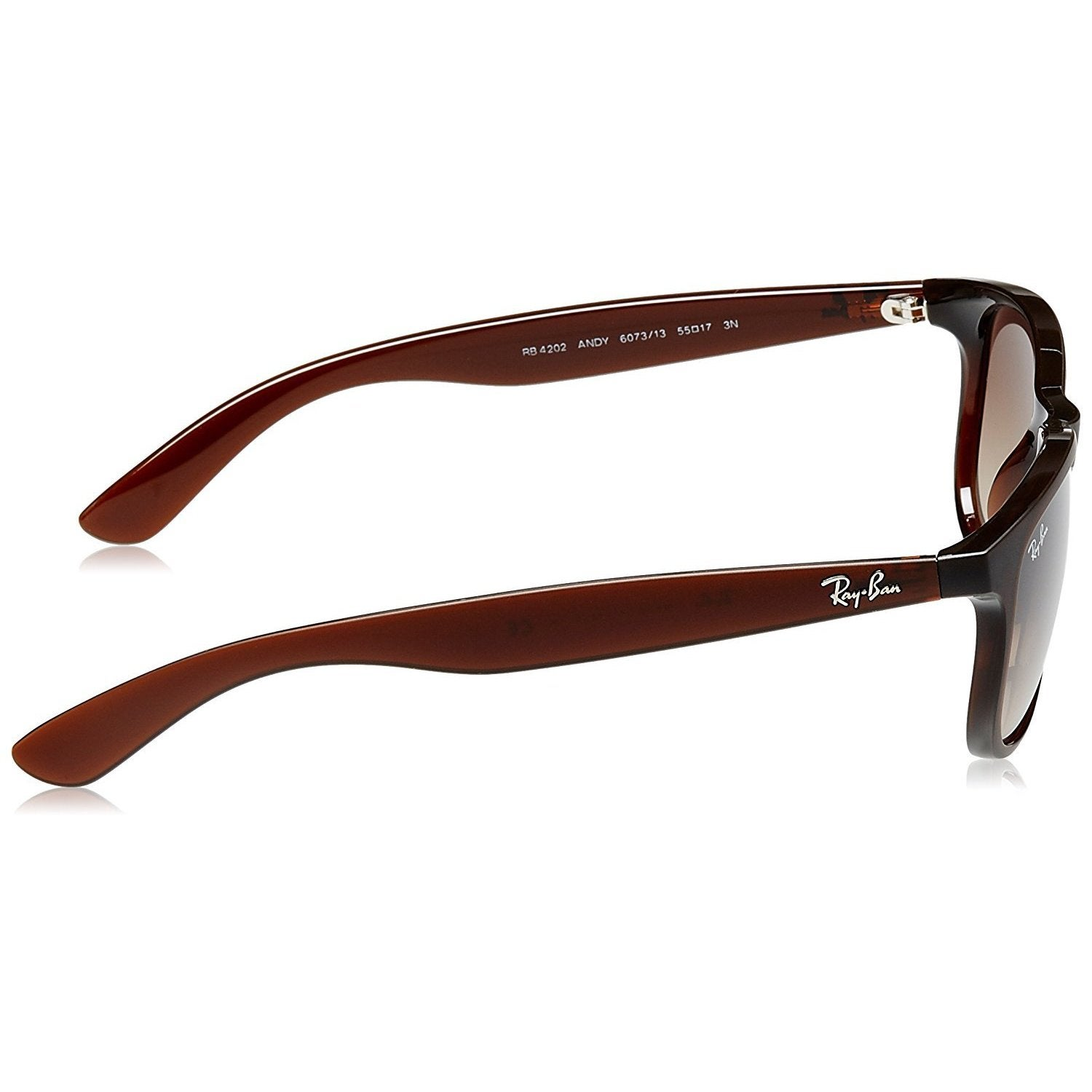 68b5be42ff Shop Ray-Ban RB4202 607313 Andy Brown Frame Brown Gradient 55mm Lens  Sunglasses - Free Shipping Today - Overstock - 14339068