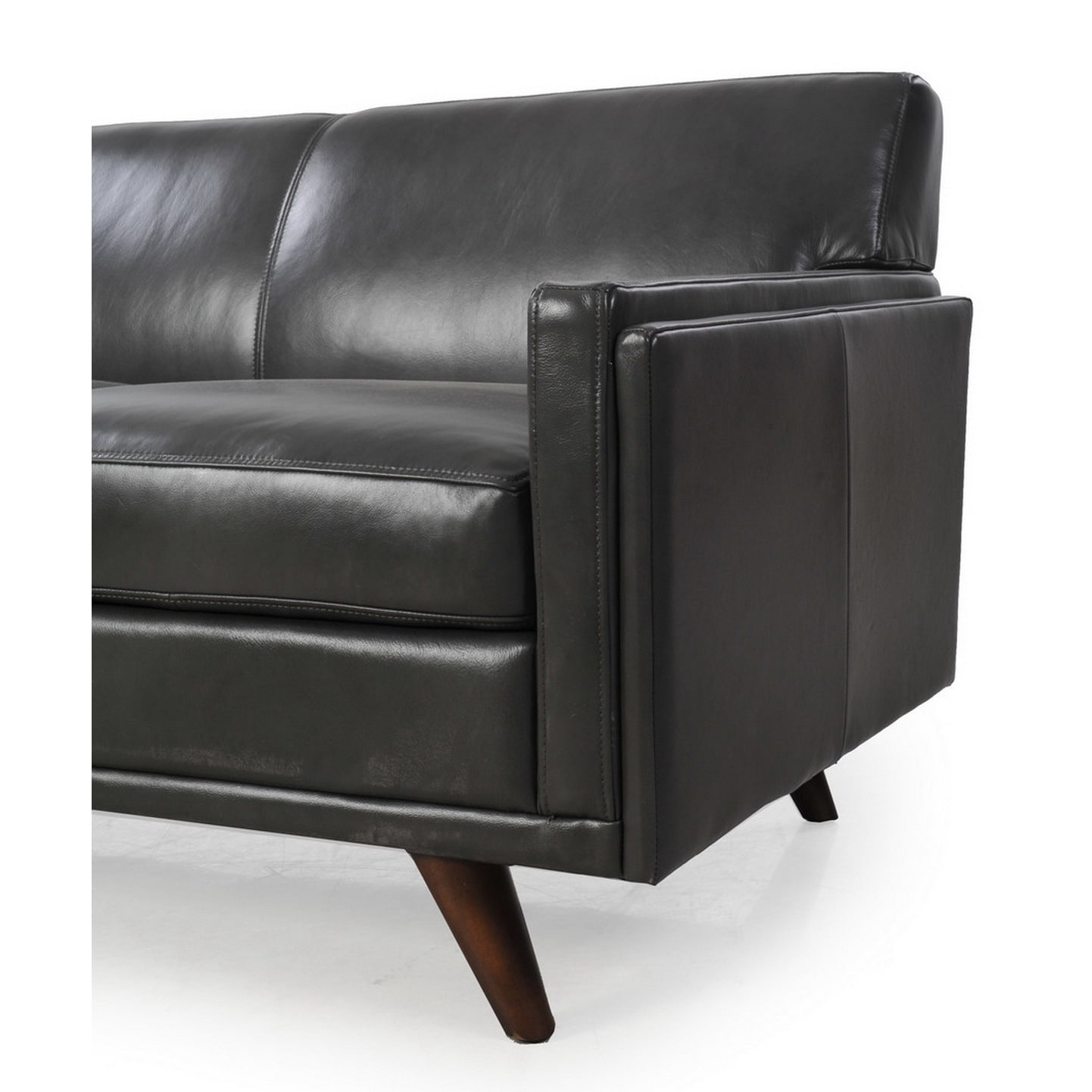 0649aff4c264 Shop Moroni Milo Dark Grey Premium Leather Sofa - Free Shipping Today -  Overstock - 14339248