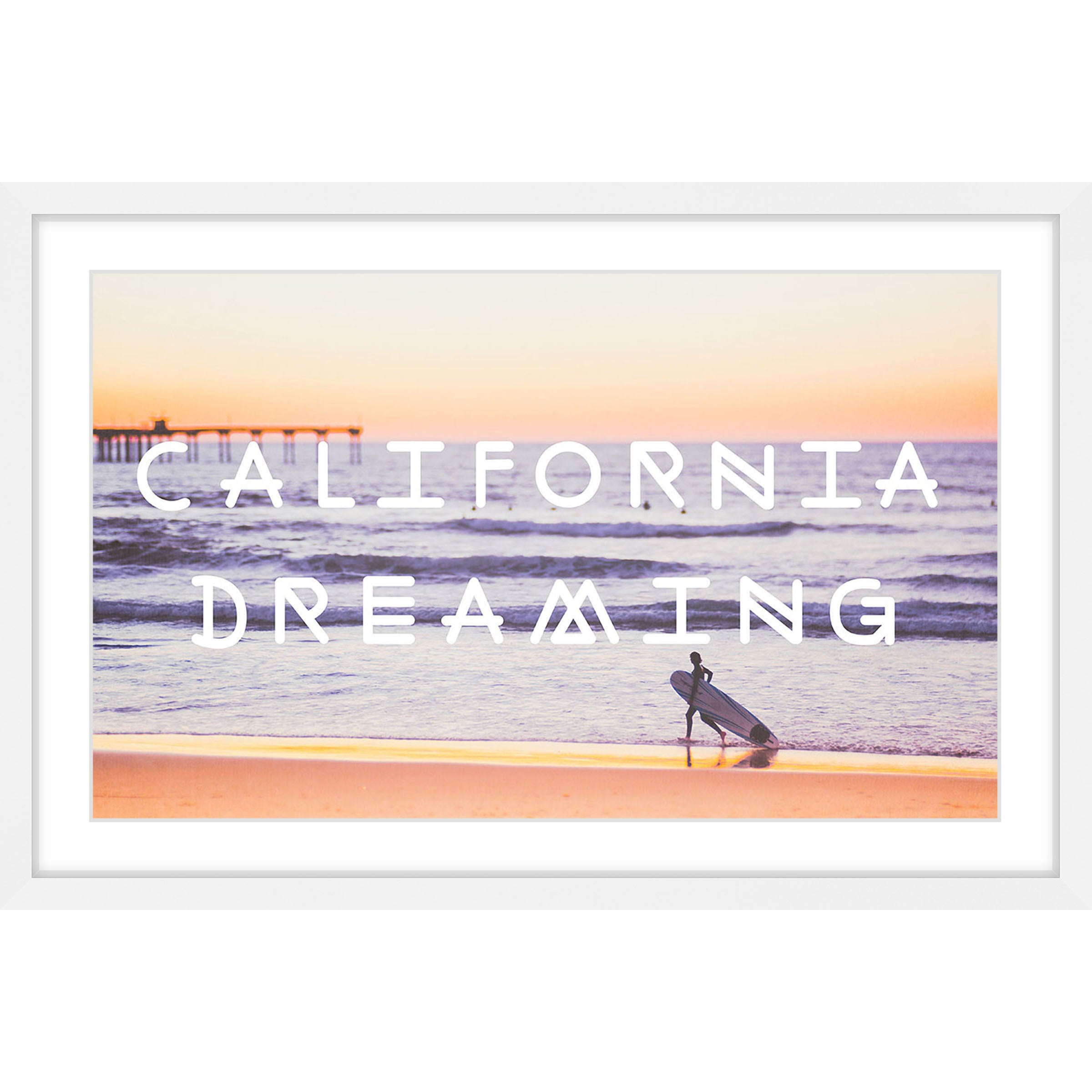 Marmont Hill - \'Dreaming of Surfing\' Framed Painting Print - Free ...