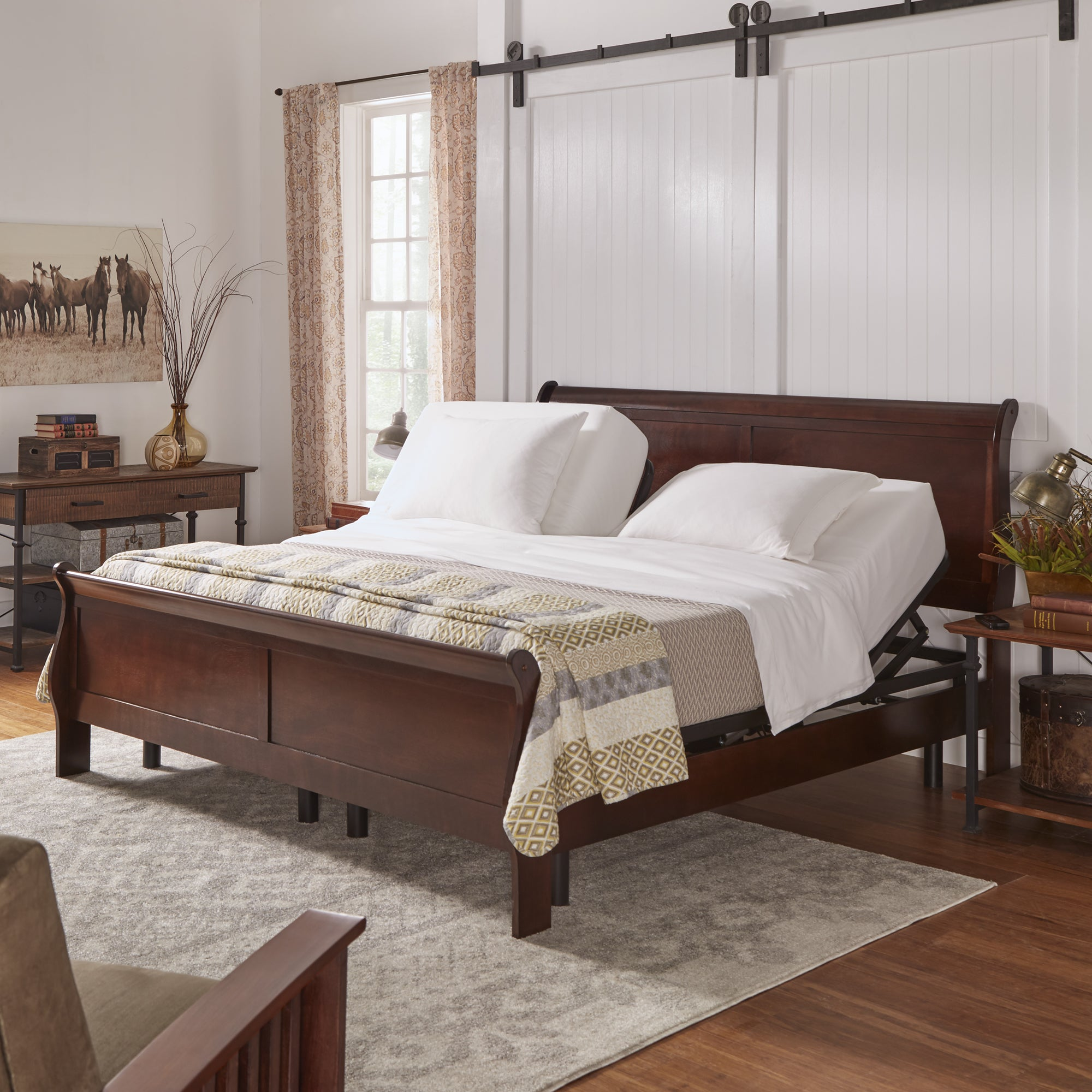 in queen bed products bases metal black base