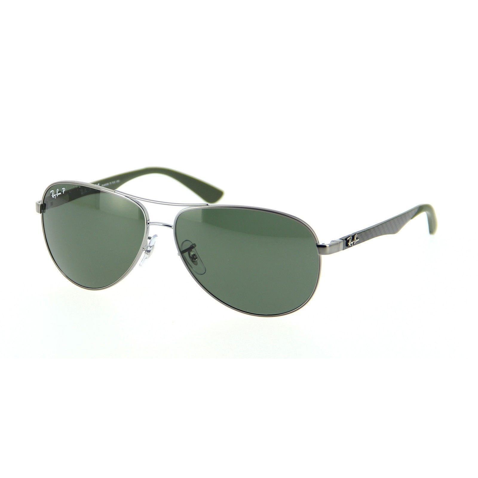 e9eba5db26629 Ray-Ban RB8313 004 N5 Gunmetal Green Frame Polarized Green 61mm Lens  Sunglasses