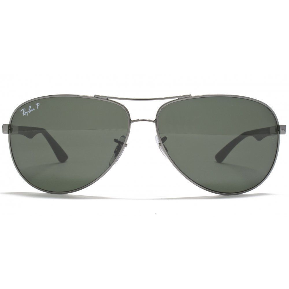5e5fbbd69ae48 Shop Ray-Ban RB8313 004 N5 Gunmetal Green Frame Polarized Green 61mm Lens  Sunglasses - Ships To Canada - Overstock - 14341469