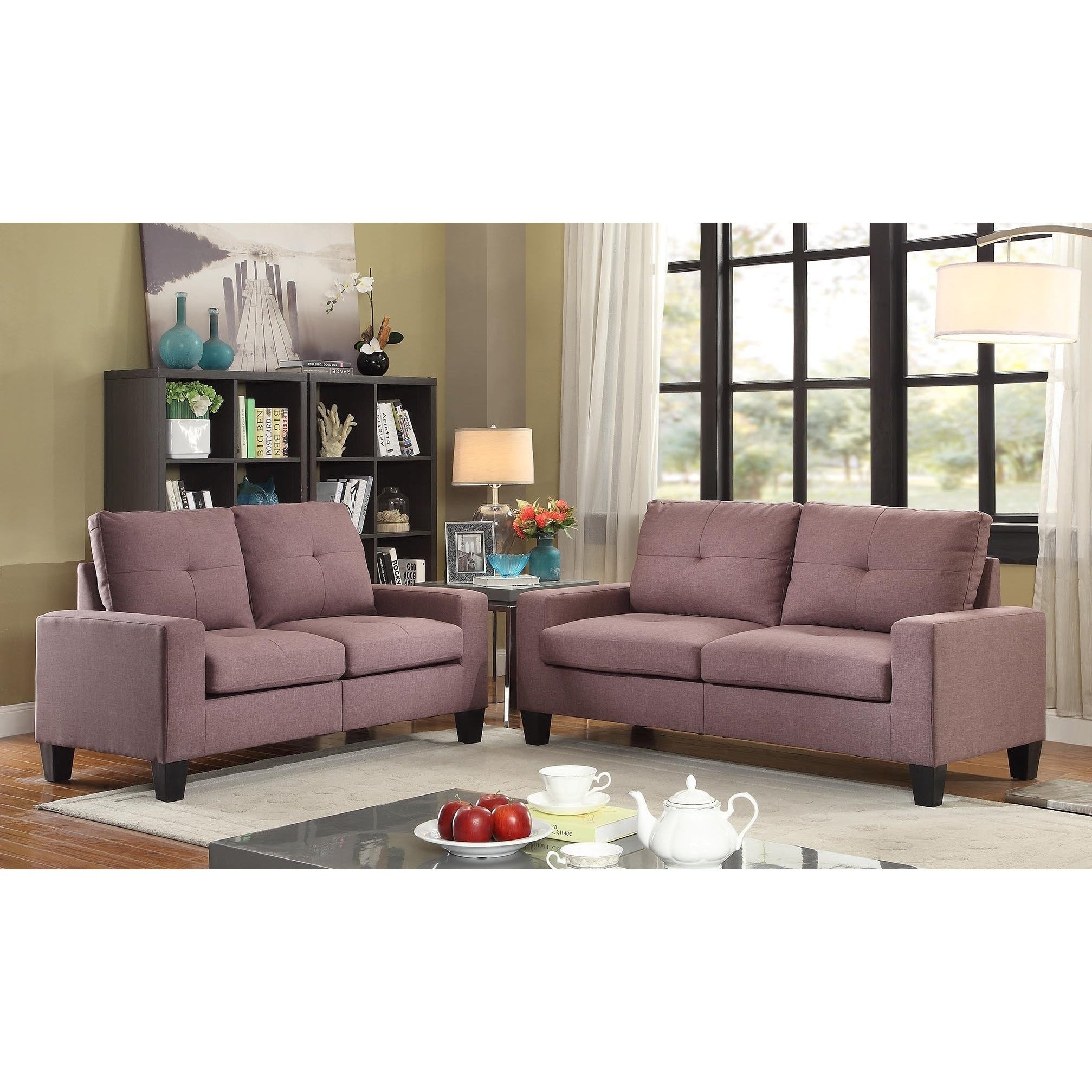 Acme Furniture Platinum II Sofa And Loveseat Living Room Set   Free  Shipping Today   Overstock.com   20918849