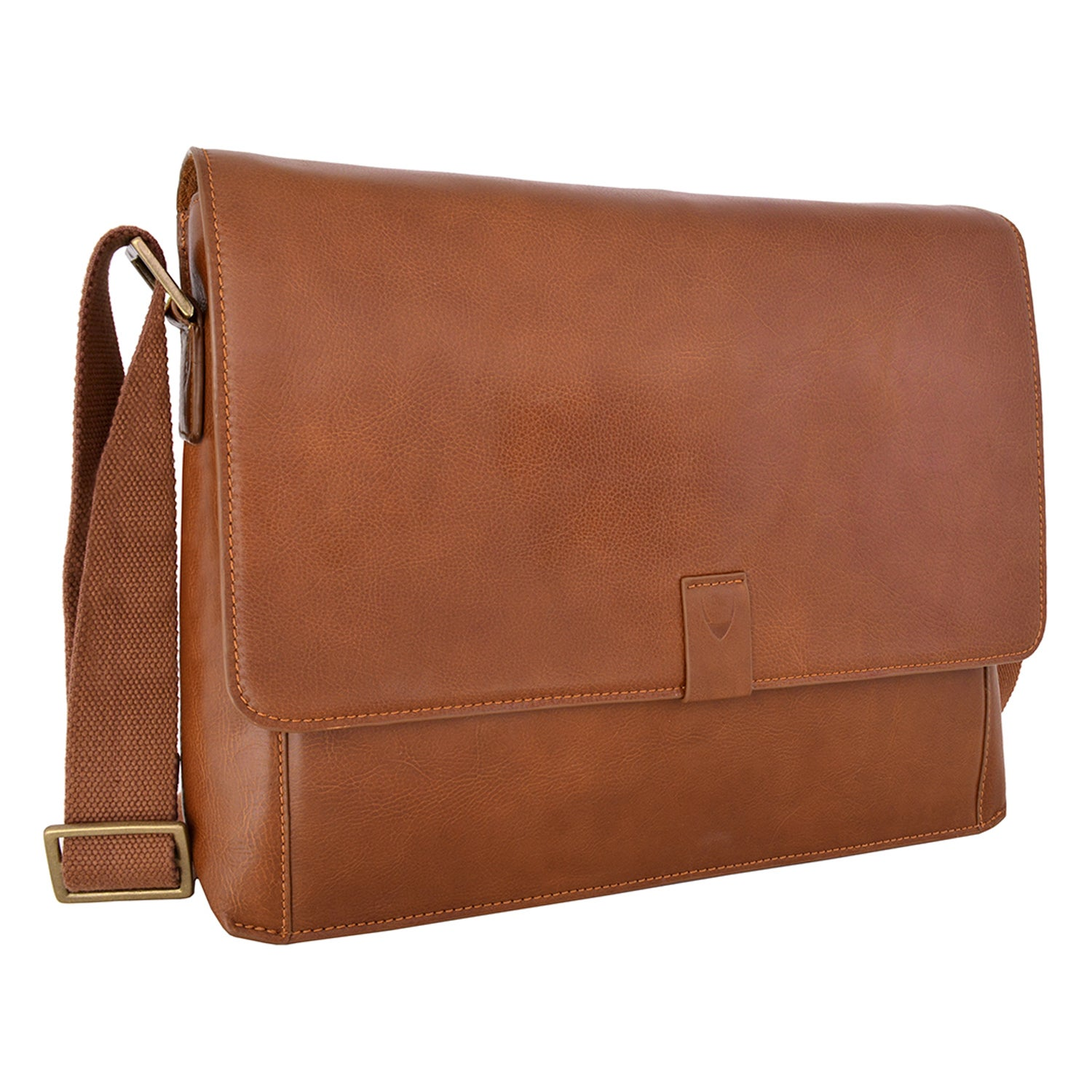 Shop Hidesign Aiden 03 Tan Leather Horizontal Messenger Bag - Ships To  Canada - Overstock - 14341761 3b2ae9625057a