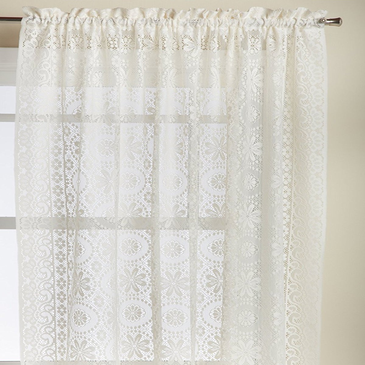 Luxurious Old World Style Lace Window Curtain Panel - Free ...