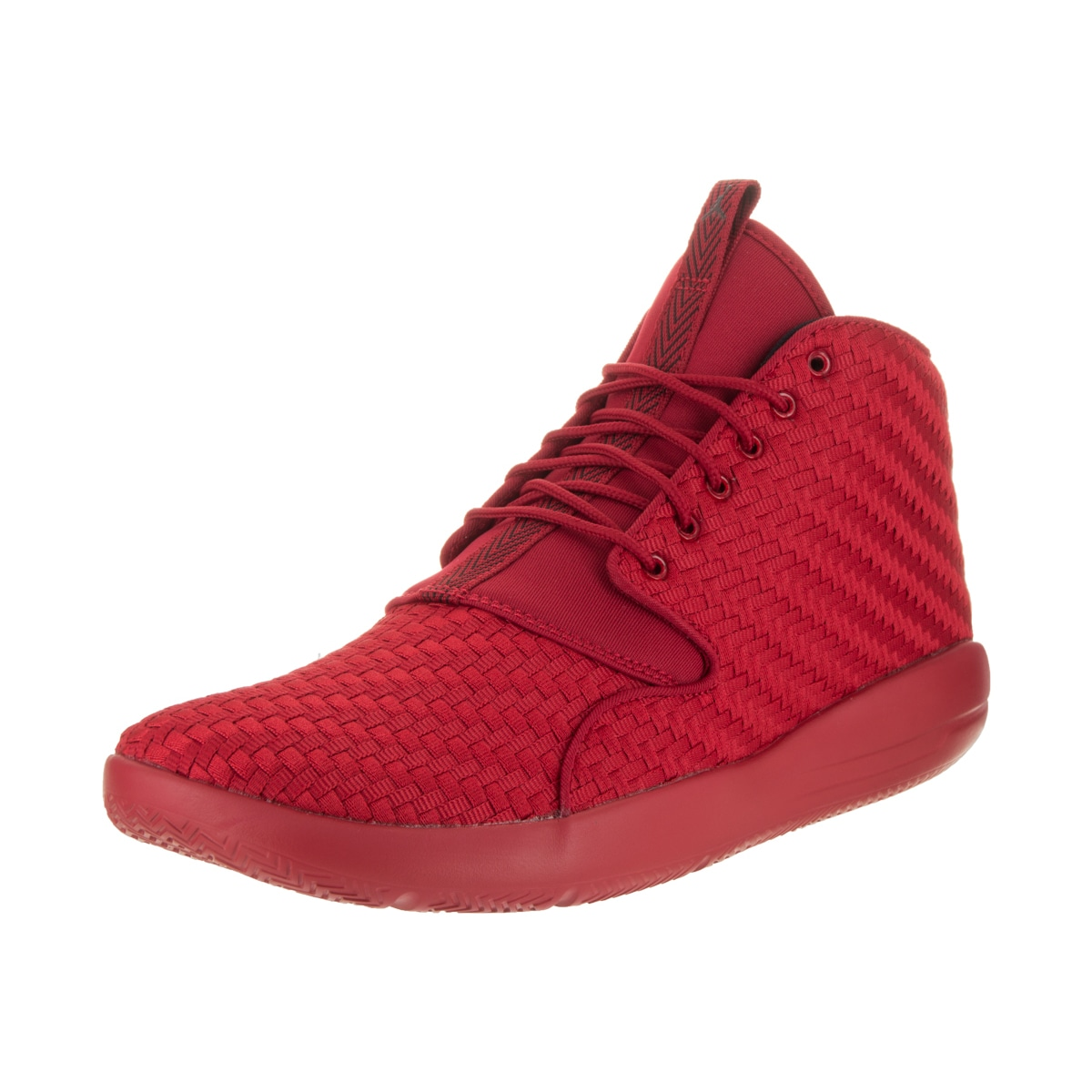 261b50481e8 ... france shop nike jordan mens jordan eclipse chukka red textile  basketball shoes free shipping today overstock