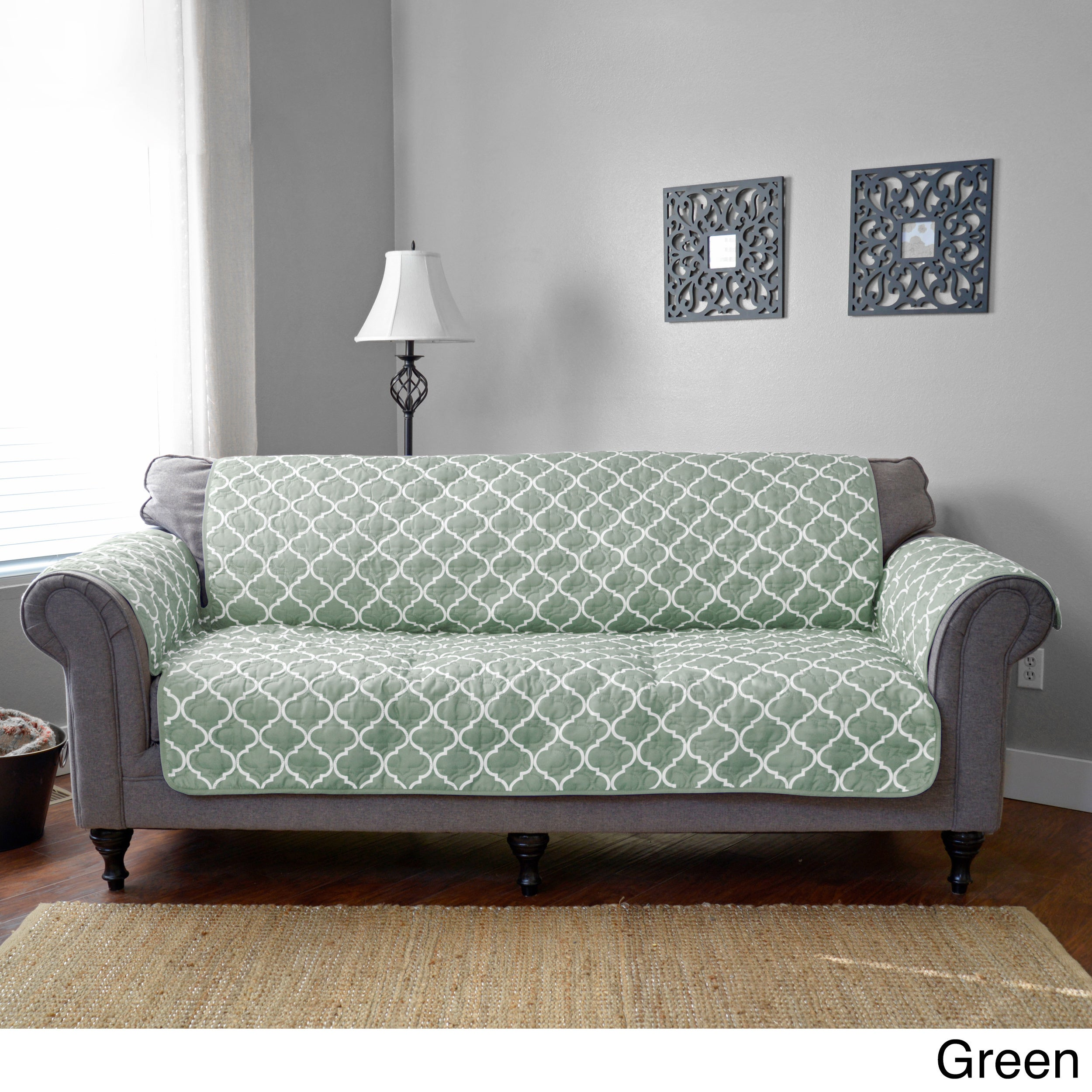 Journee Home Jovannie Reversible Printed Sofa Protector On Ships To Canada Ca 14356262