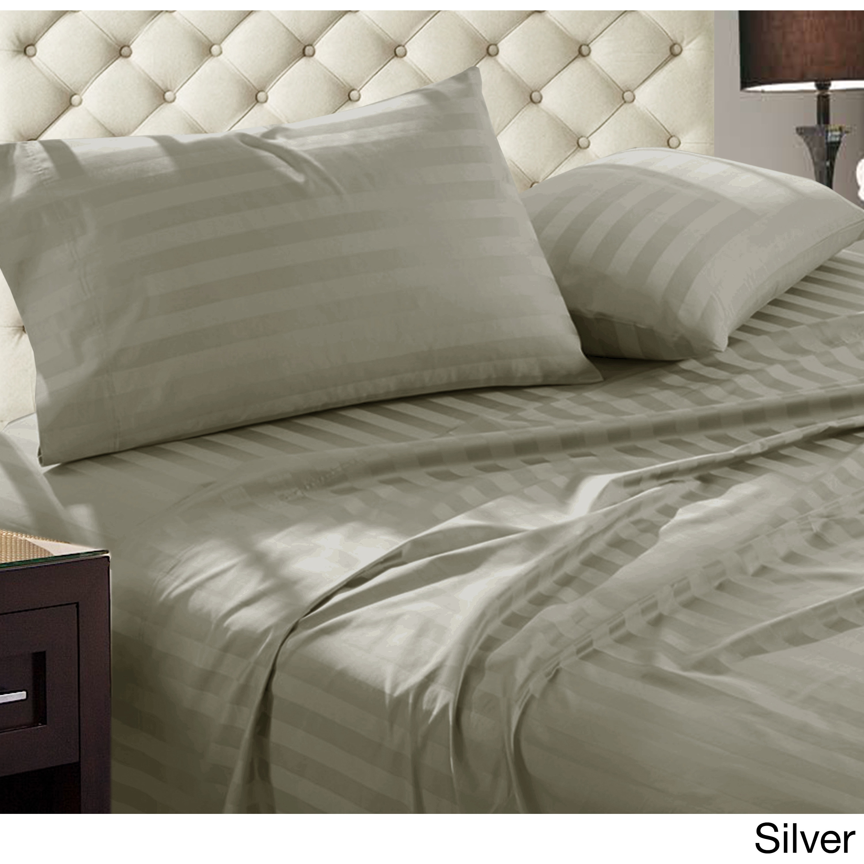 Luxury Egyptian Cotton Damask Stripe 1000 Thread Count 4 Piece Sheet Set On Free Shipping Today 14356319