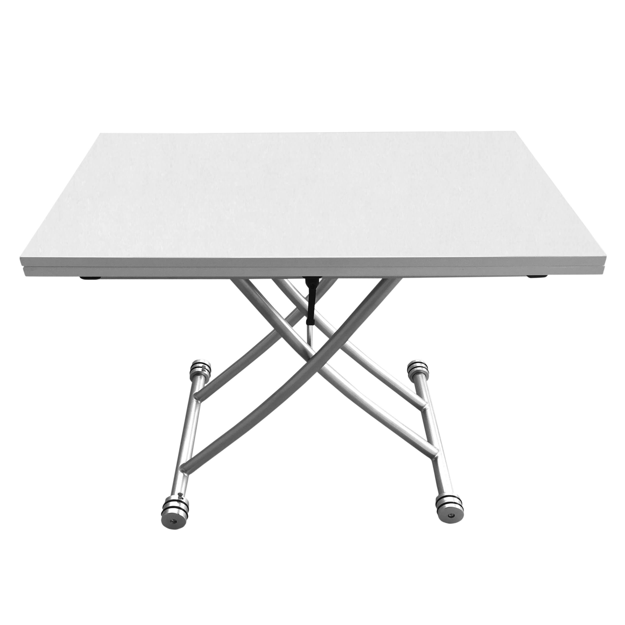 Transforming X Coffee And Dining Table In High Gloss White Finish Free Shipping Today 14356661
